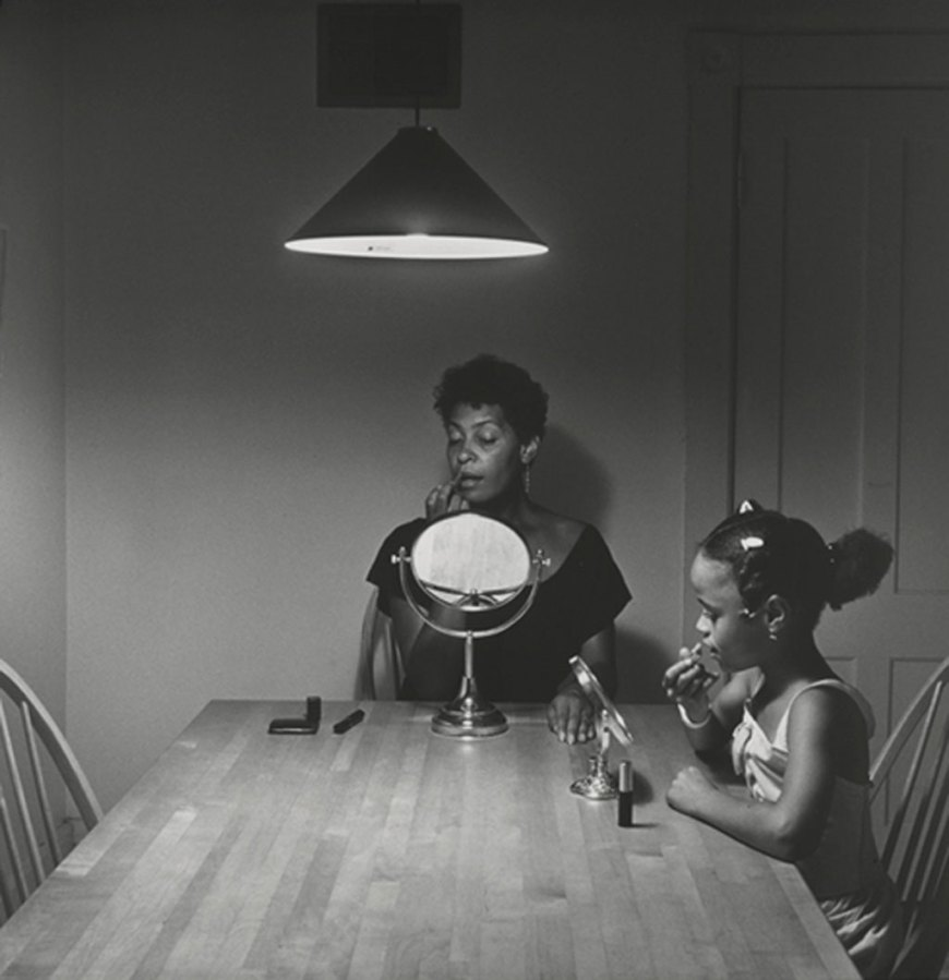Carrie Mae Weems,  Untitled (Woman and daughter with makeup)  (from  Kitchen Table Series ), 1990