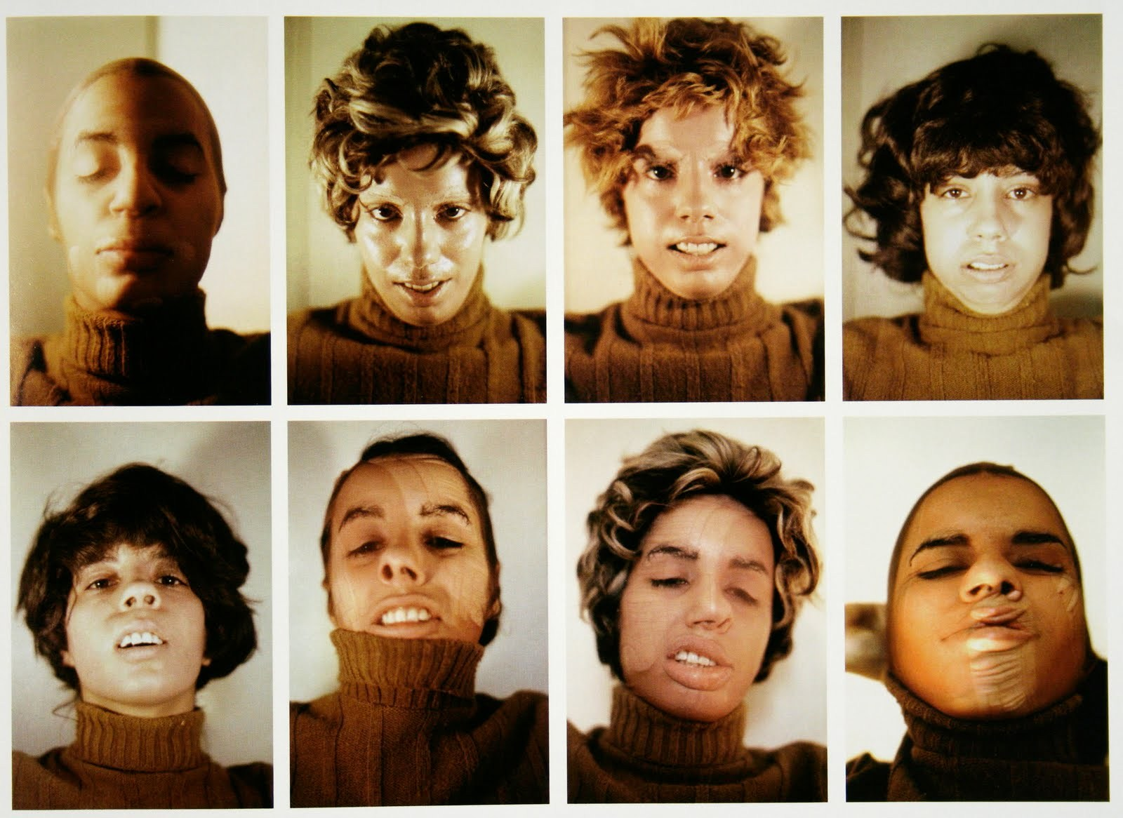 Ana Mendieta,  Untitled  ( Facial Cosmetic Variations)  1972