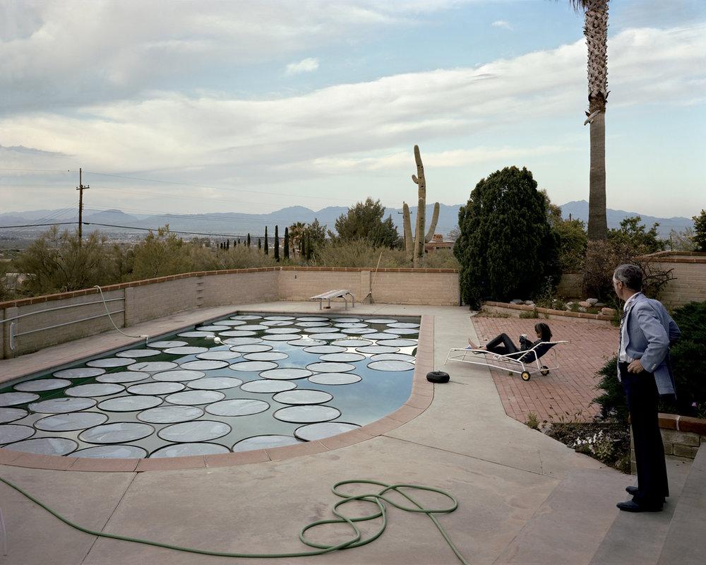 Joel Sternfeld, Solar Pool Petals, Tucson, Arizona, April (1979)
