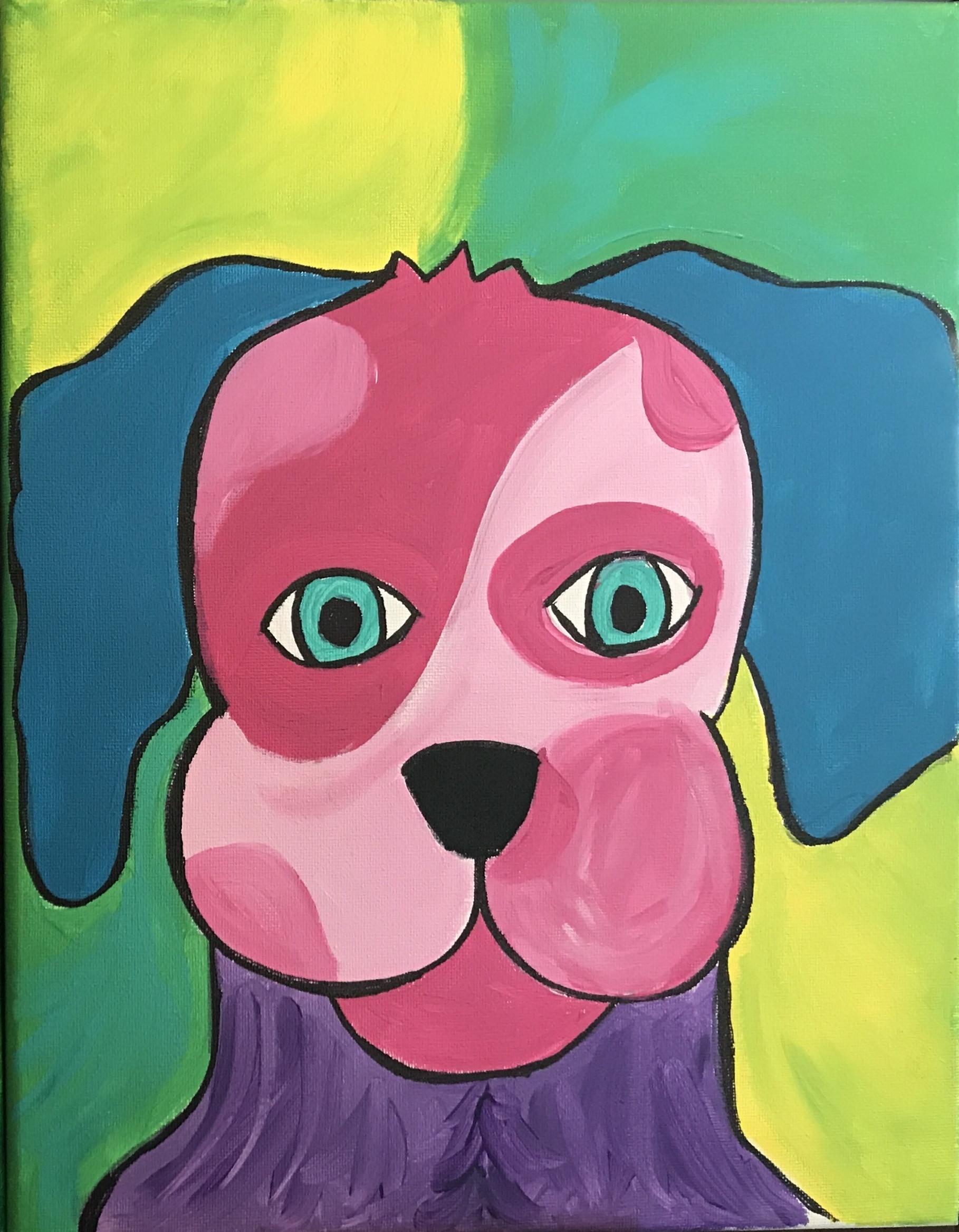 Pop Art Dog Style 2