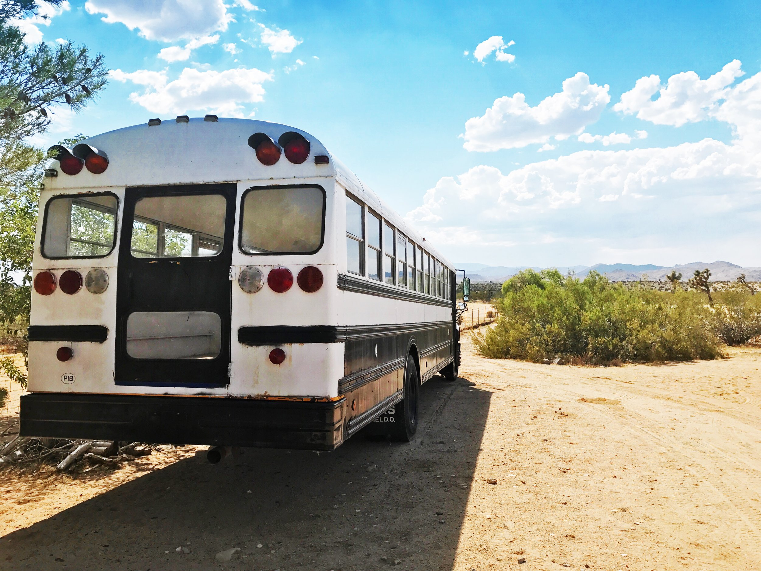 Desert Escape - Joshua TreeA magical Rock & Roll Themed oasis in the heart of the Mojave Desert, this 15 acre property in Joshua Tree boasts multiple unique locations including a school bus & a chic travel trailer.
