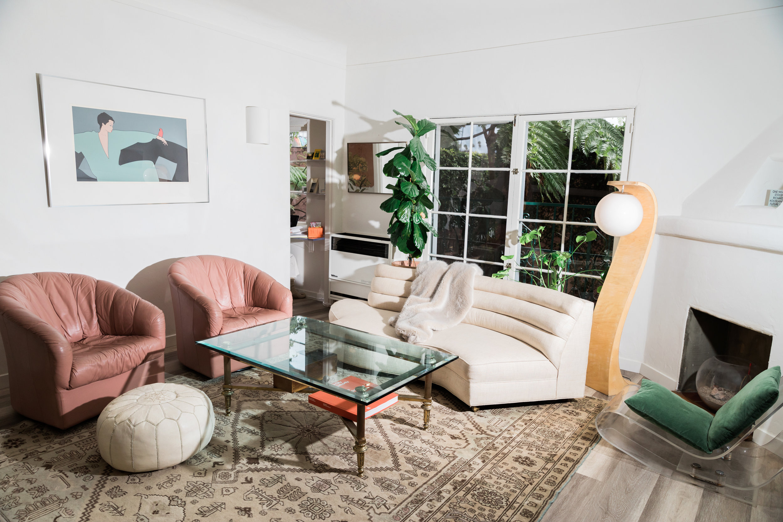 Mediterranean Deco - Silver Lake1931 Spanish Colonial Revival style apartment designed with the unabashed hedonism of 1970s Hollywood in mind.
