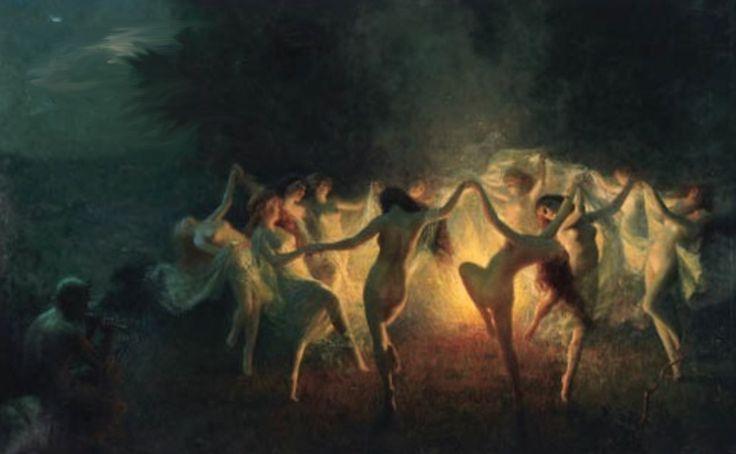 Nymphs Dancing to Pan's Flute by Joseph Tomanek.