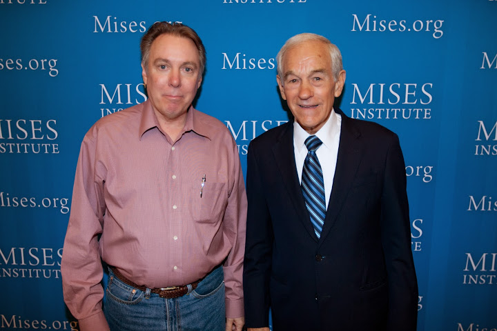With Ron Paul at the von Mises Convention