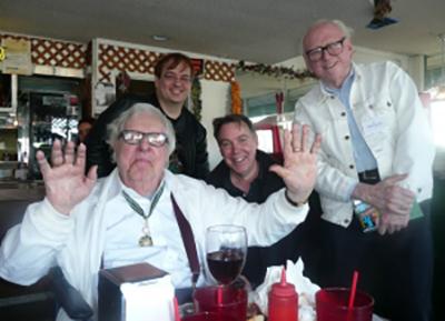 With Ray Bradbury and Bill Nolan.