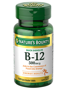 Nature's Bounty Vitamin B-12 500mcg Lozenges