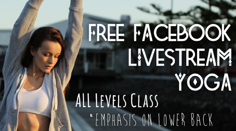 Low Back Love - In this 35 min facebook live video- Chris will guide you through some key poses you can do at home to release and strengthen the Lower Back