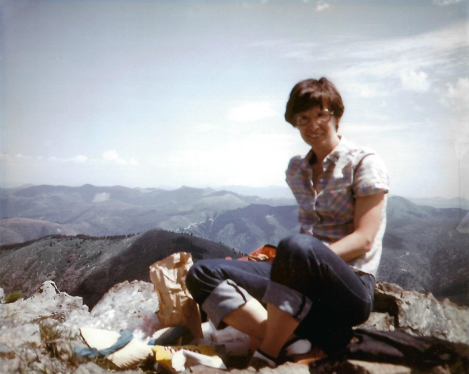 Christine's mom, Loralee, on Silver Star Mountain, 1981