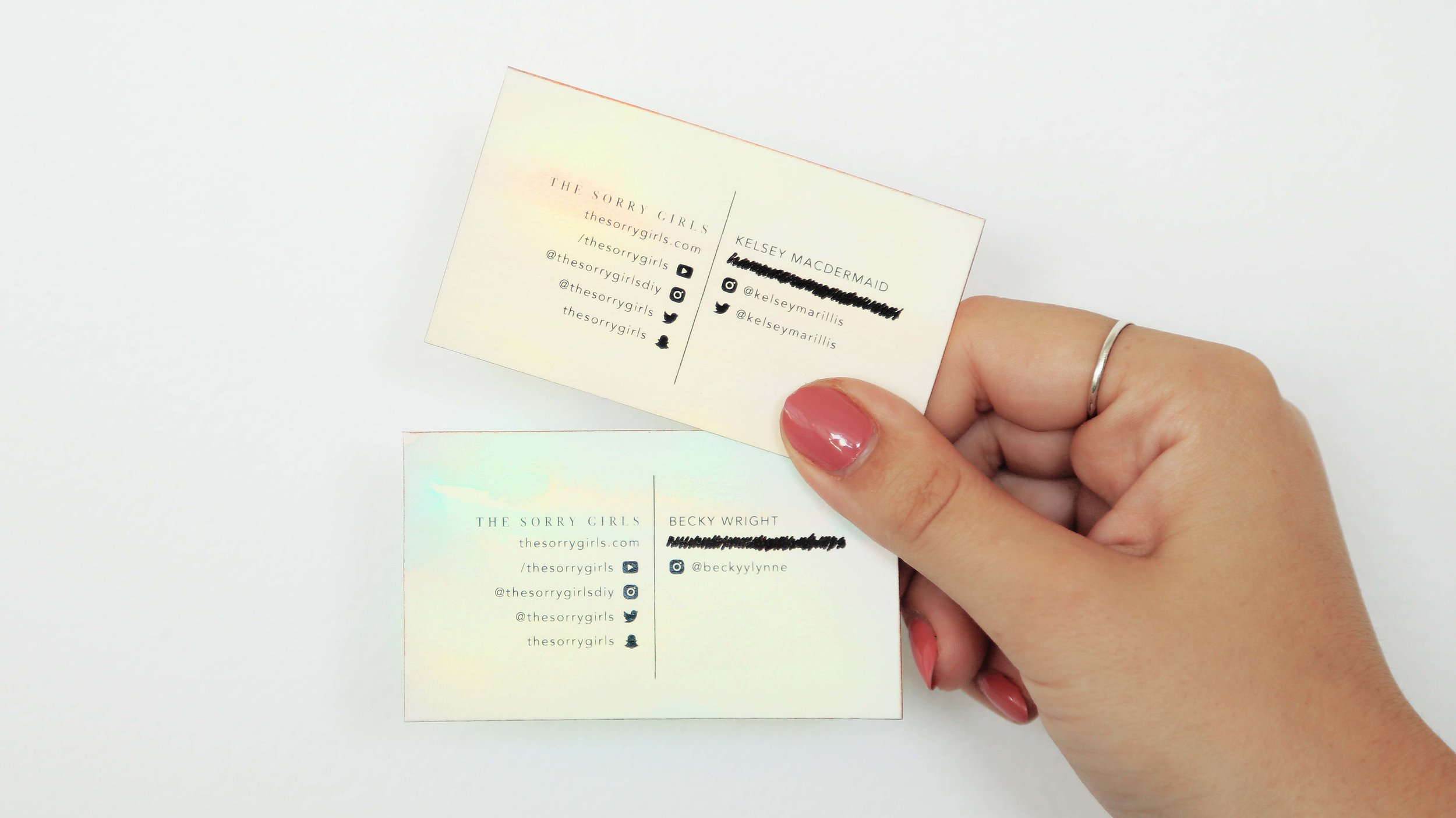 Diy Business Cards The Sorry Girls