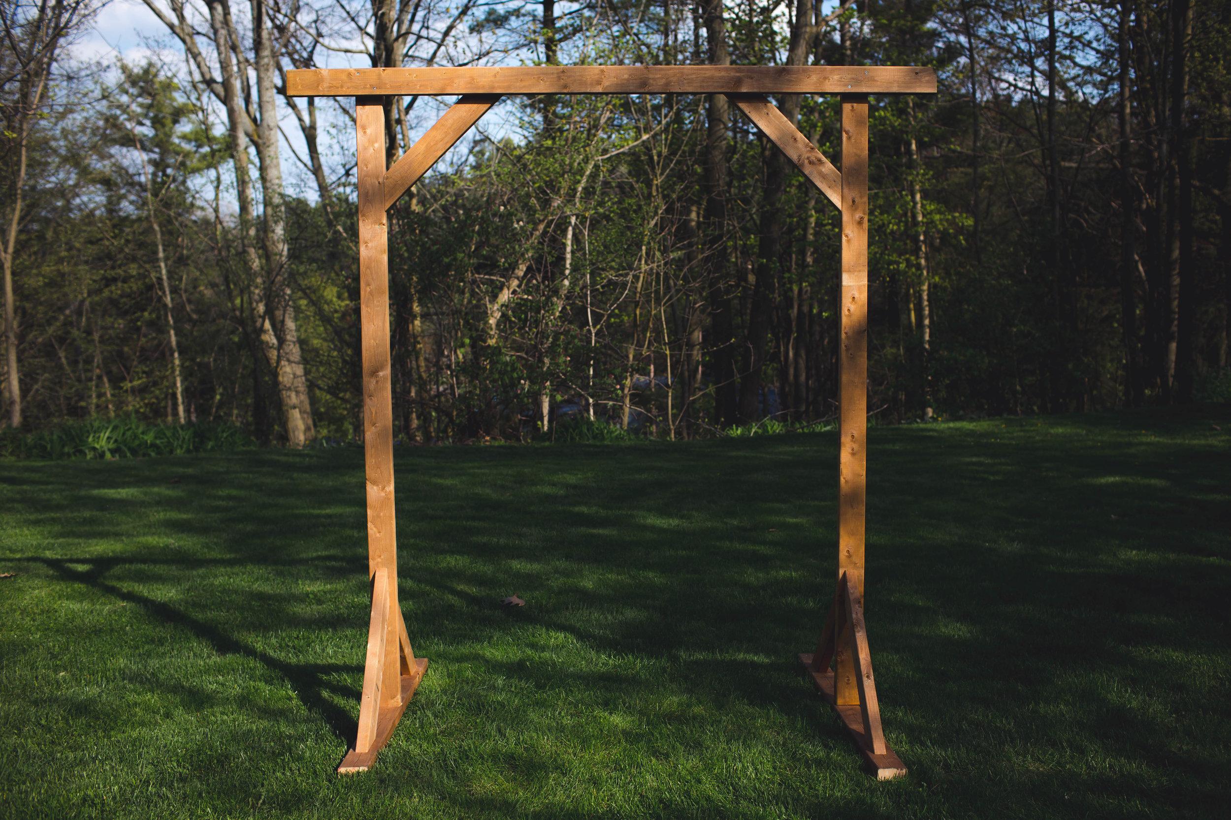 Diy Wedding Arch.Diy Wood Wedding Arbor The Sorry Girls