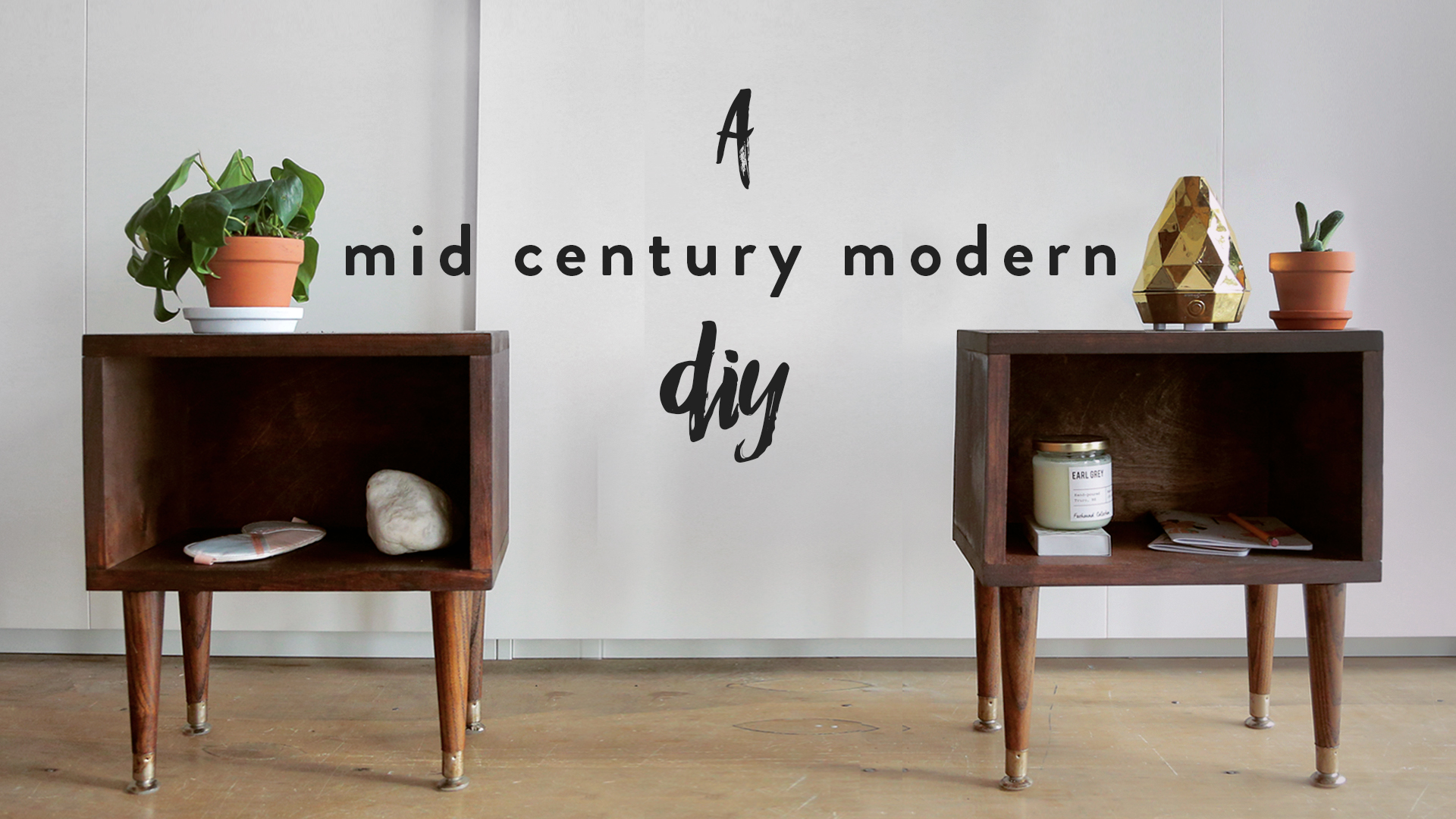 Diy Mid Century Modern Nightstand The Sorry Girls