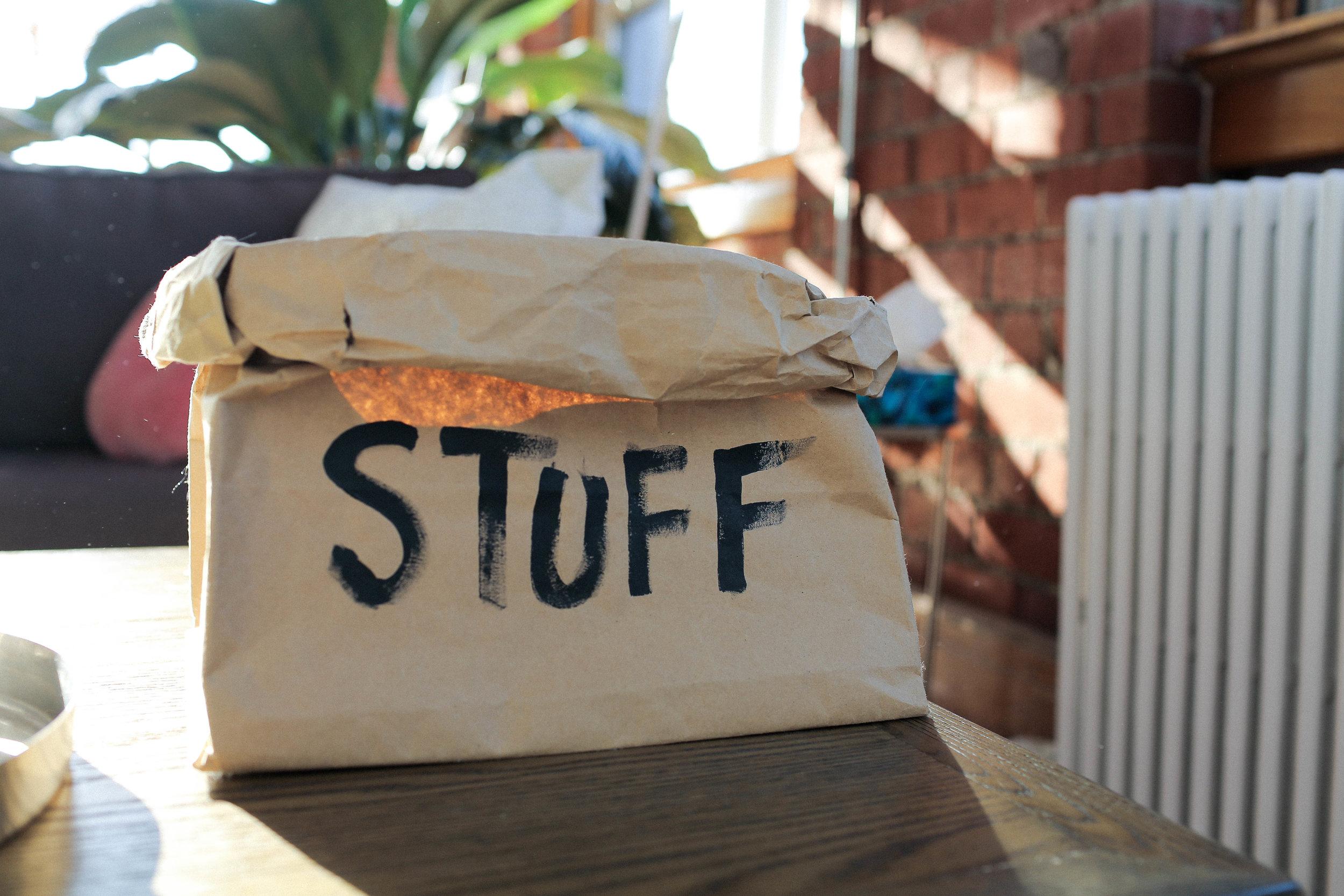 PAPER BAG ORGANIZER