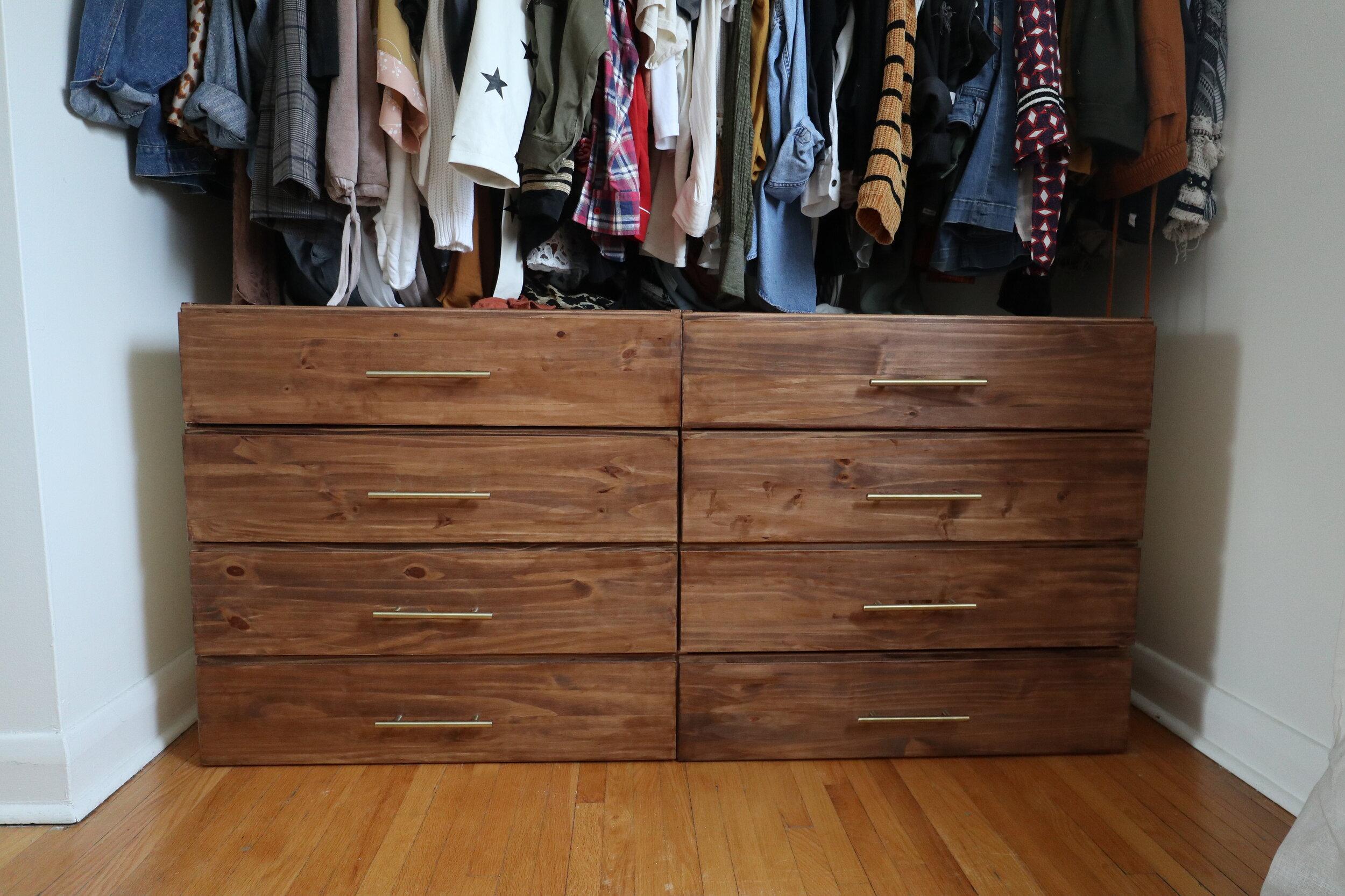 Ikea Hack 3 Drawer To 4 Dresser