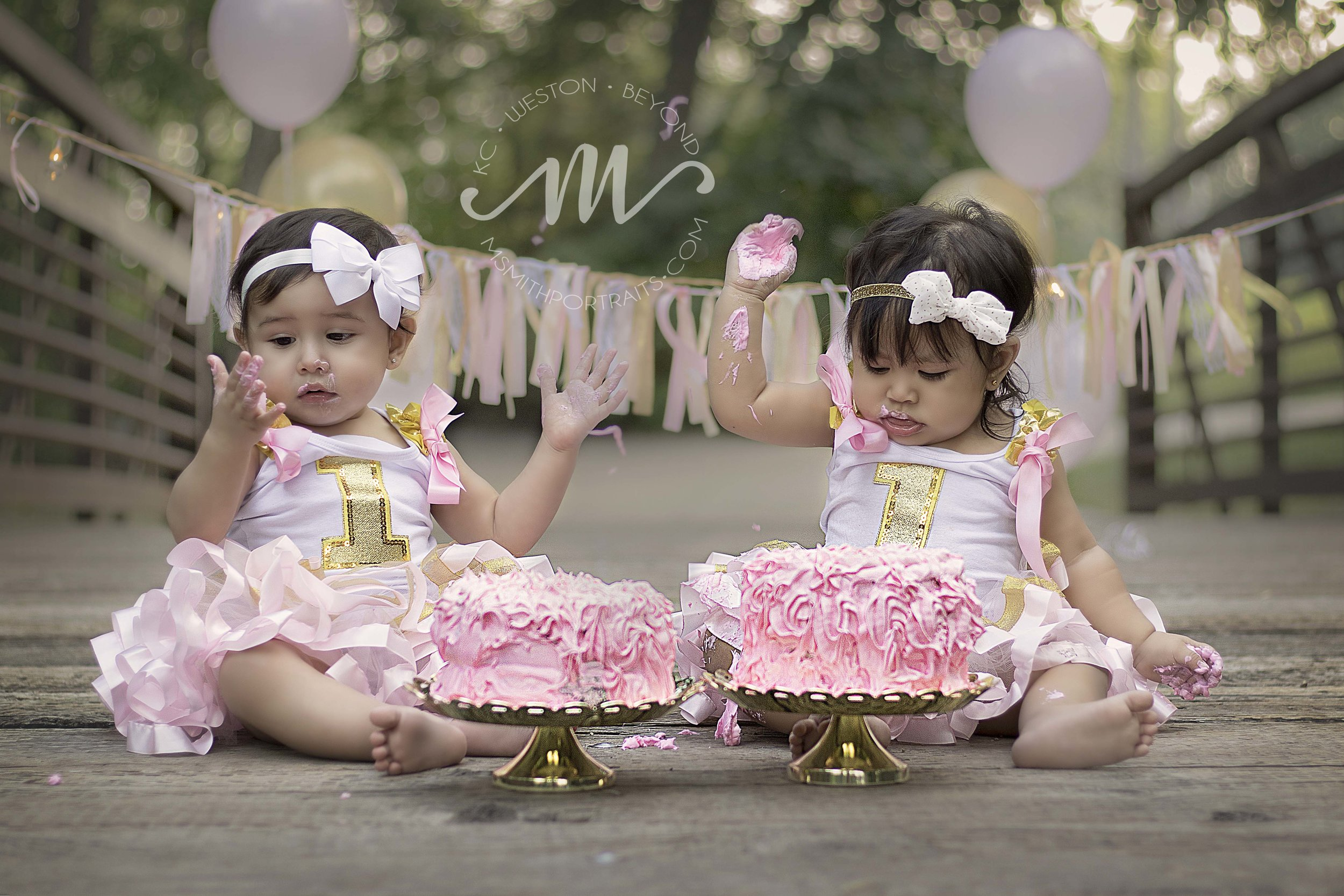 Double cake smash photo