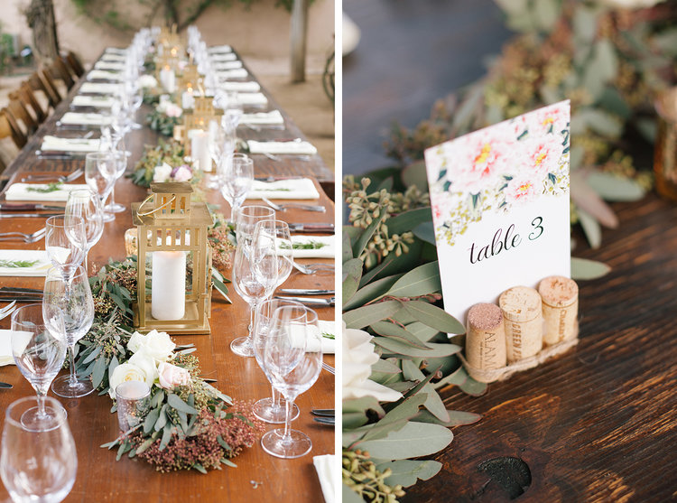 Garland Table Runner with Lanterns