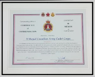 RCSU Commanding Officer's Certificate of Commendation