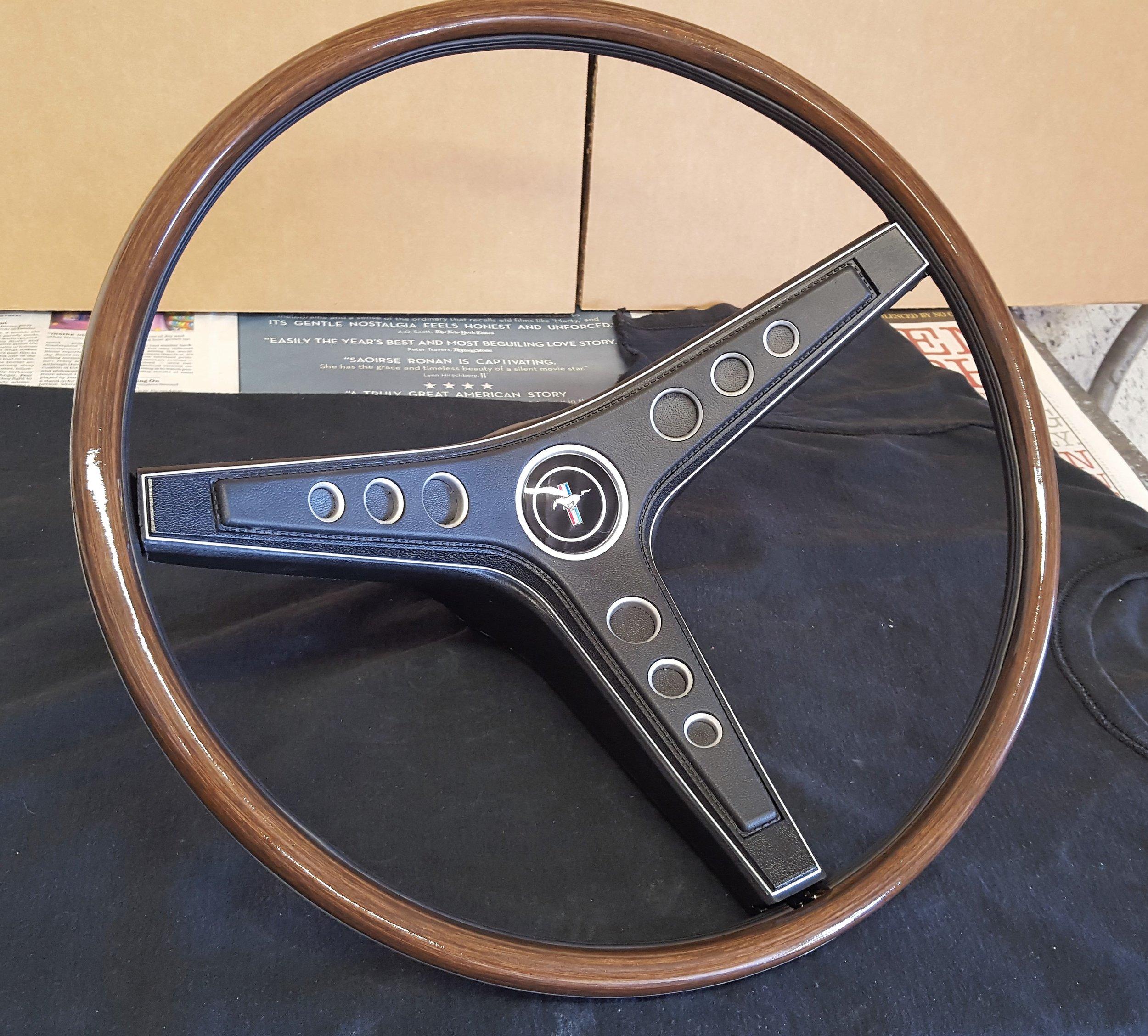 1969 Mustang rim blow steering wheel