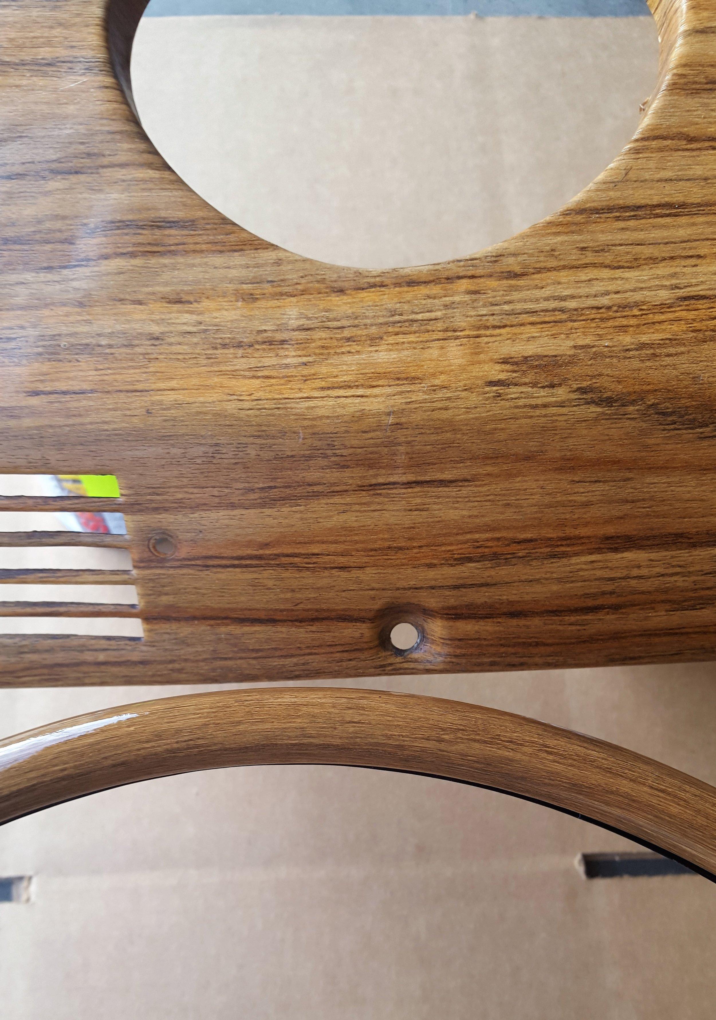 TEAK wood grain close up
