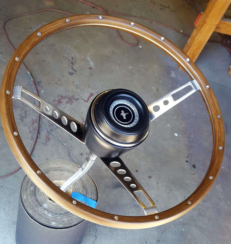 1967 Mustang deluxe wood grain steering wheel