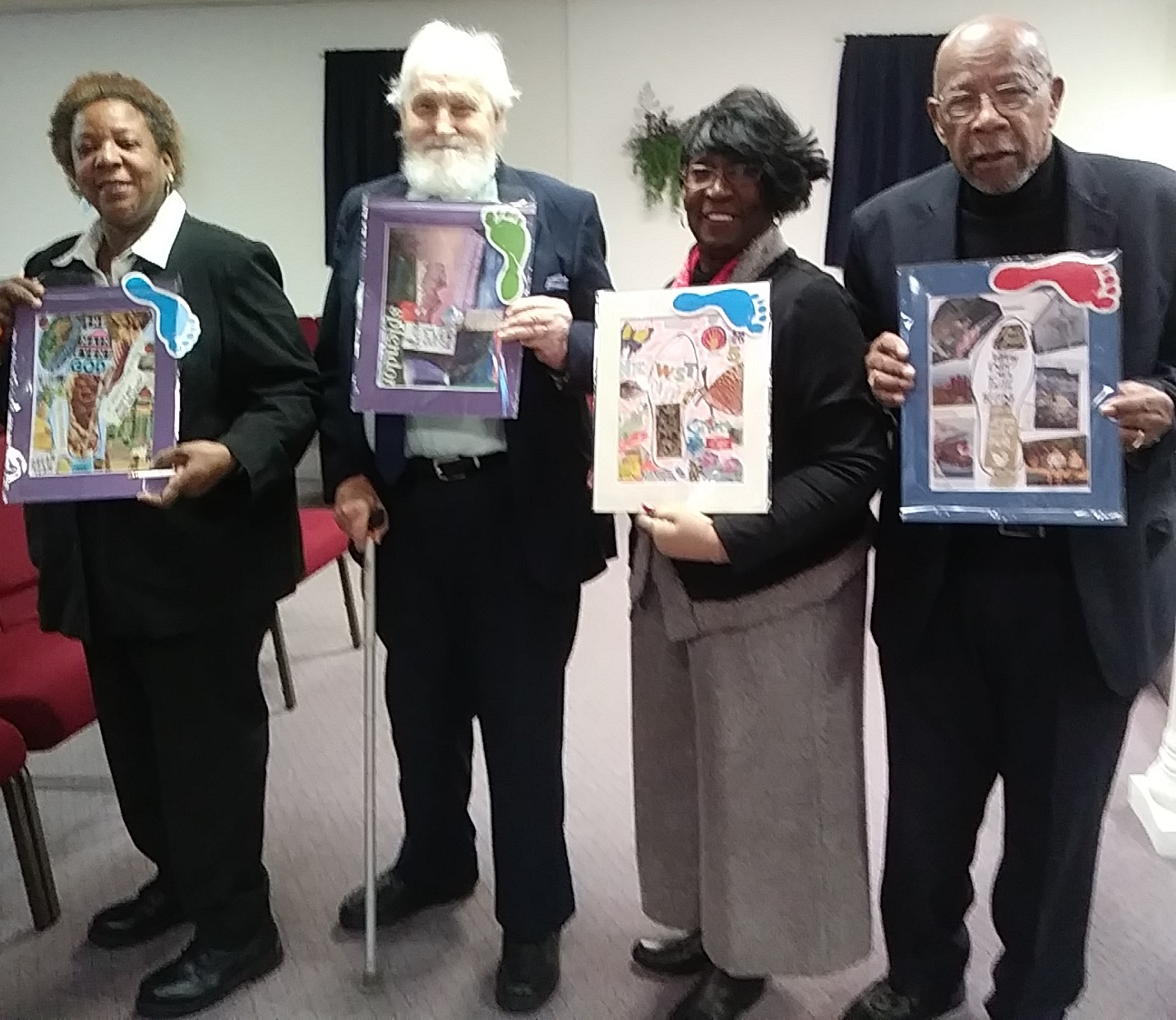 Members of A Ministry of Restoration envisioned their walk into the new year by creating Heart & Sole Collages.