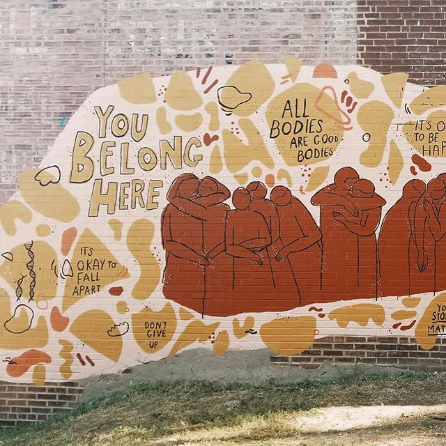 "We're so thrilled to have had the incredible opportunity to create an interactive mural together! You can visit the mural at the one and only @risecoffeestl, and listen to the sound piece while you're there, then write a little note of support for someone and put it in our lil love box! ⁣ ⁣ If you're not in STL, you can gaze at @caitie_metz's mural through photos and still listen to @victoria.emanuela's sound art by visiting (obiybsound.com) where there's also a written transcript of wisdom shared from some amazing humxns. ⁣ ⁣ We are so pumped to create more interactive murals with both a visual and sonic relationship! If you're wanting to commission us or create something special for your building, feel free to email us. ⁣ ⁣ Thank you so much to all who came to support us and to this entire community for being so damn incredible—we love you. Ps! We're coming out with a monthly newspaper called ""The Metzuela Press"" (it combines our names because we're cheesy af) and it'll feature things we're both processing, learning, creating, and prompts for you!⁣ ⁣ Last but not least, a big ol' THANK YOU to @theluminaryarts for believing in our work and choosing us as recipients of the Futures Fund Grant."
