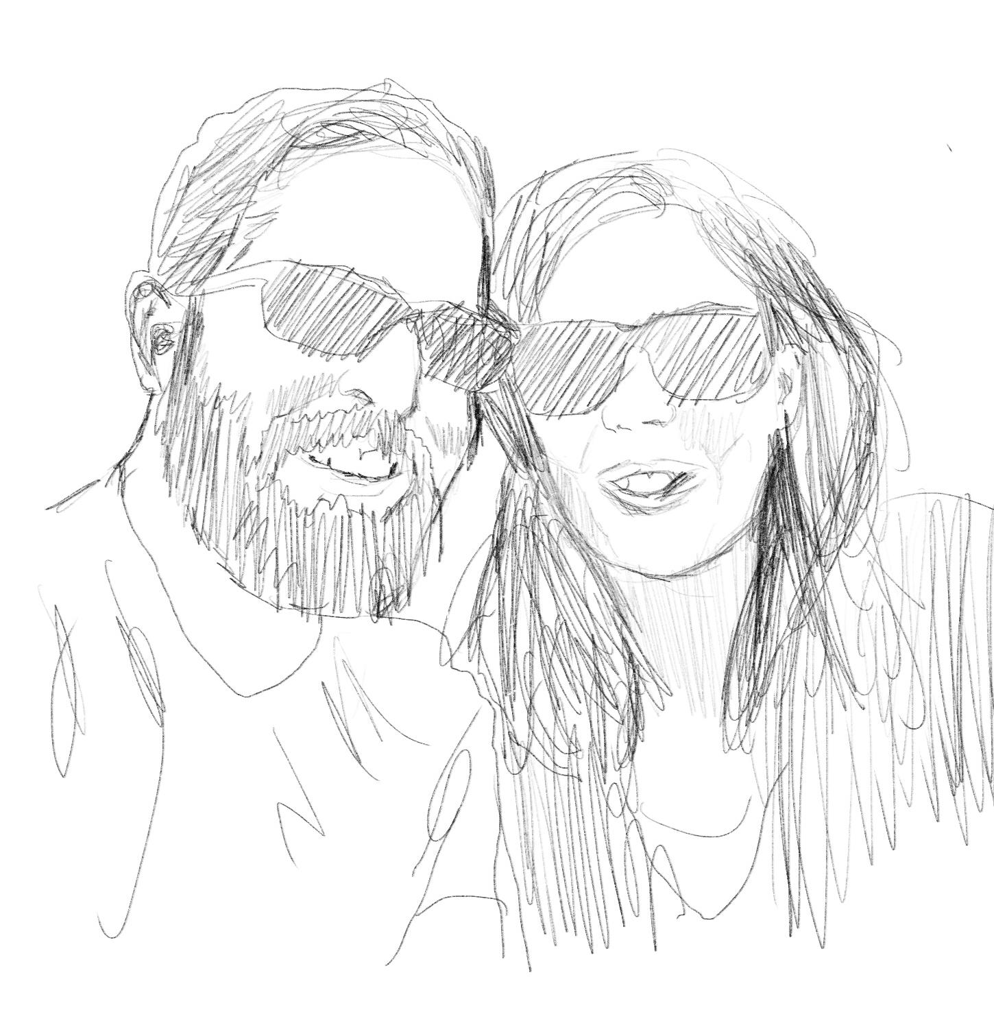 Scribbled self-portrait. I have a beard.