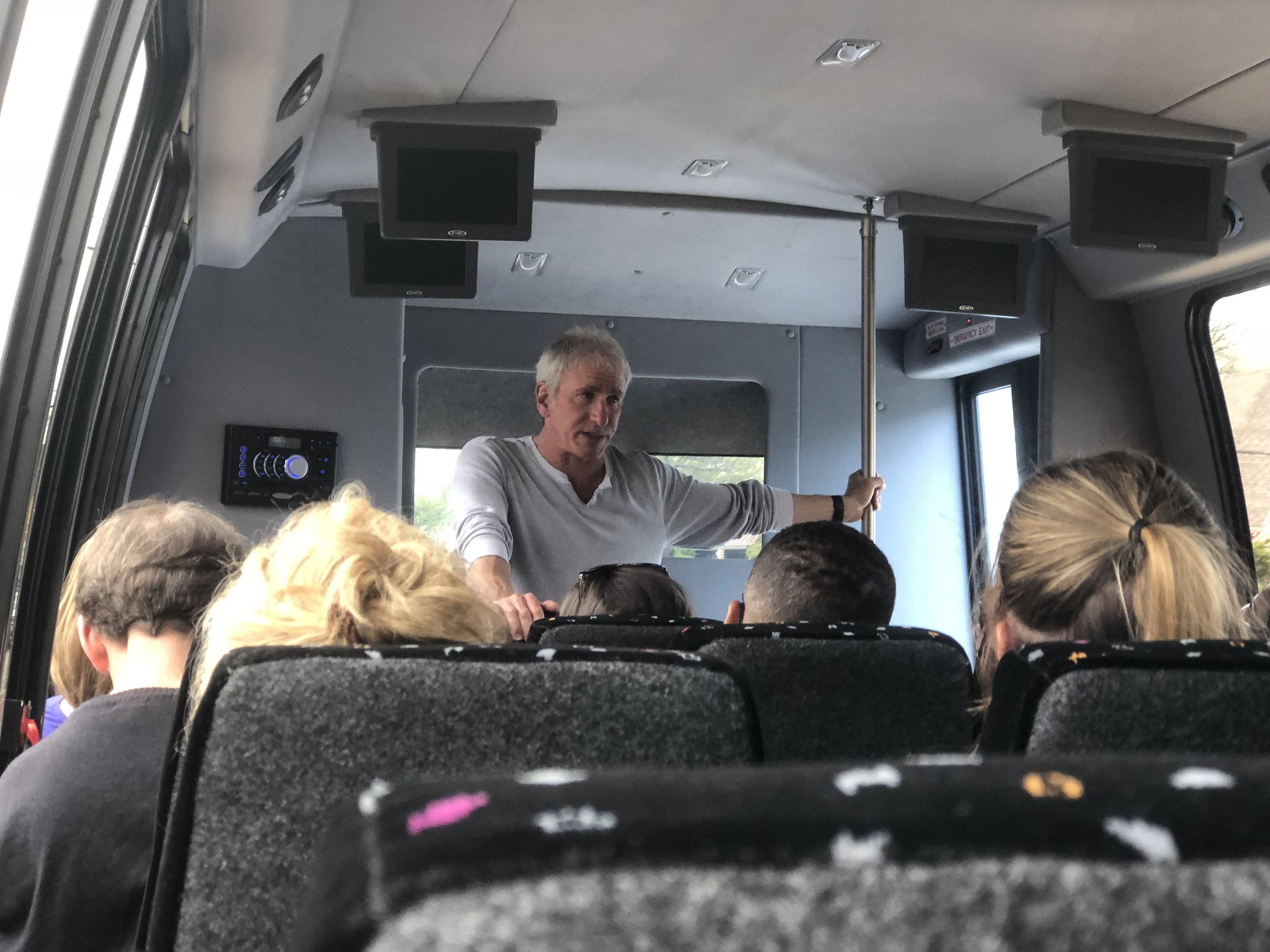Cliff doesn't stop enriching you with knowledge. Carrying on through breakfast, lunch and dinner. Even the bus journey was filled with information .