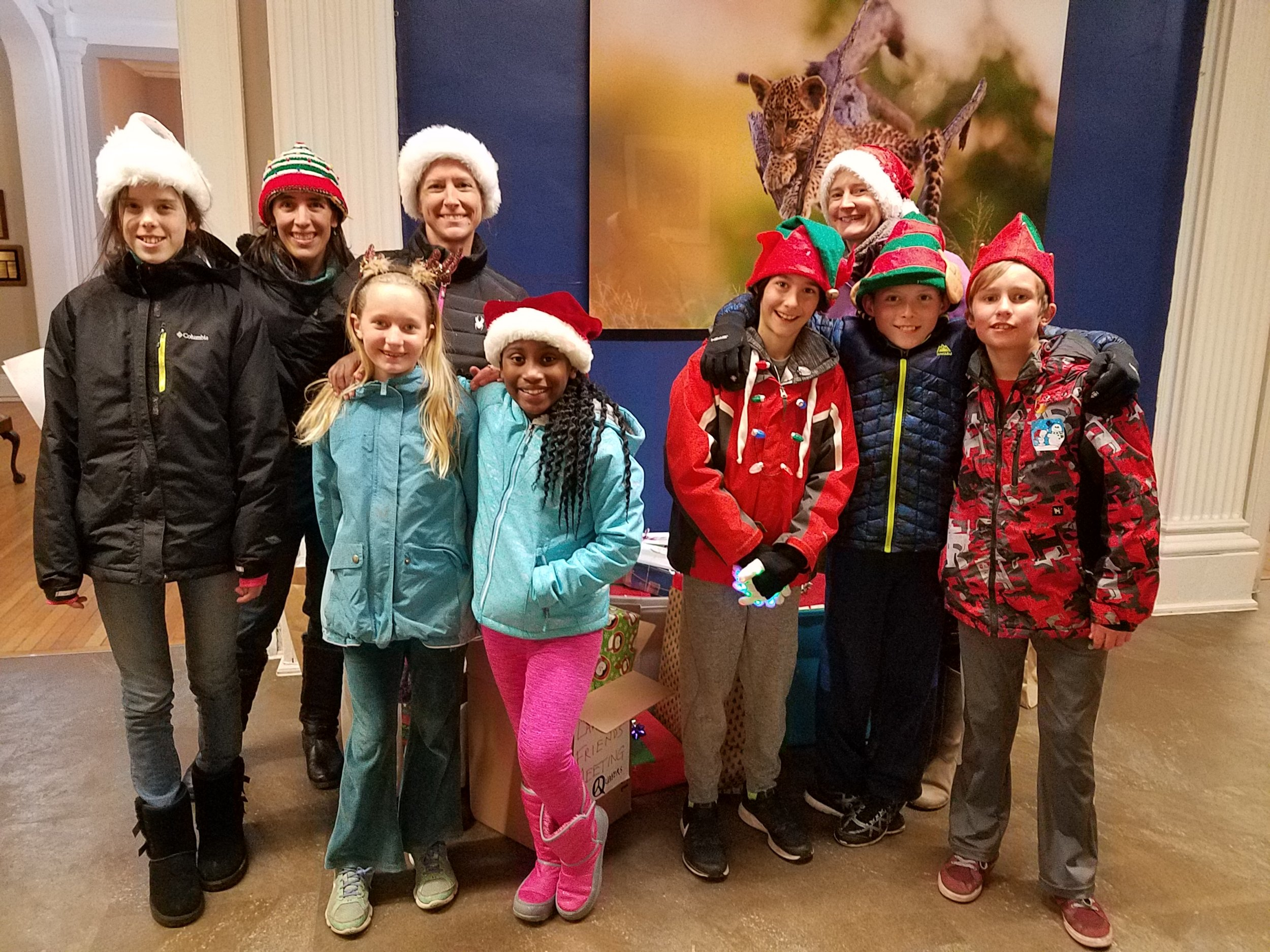 LMM elves visit the YWCA -