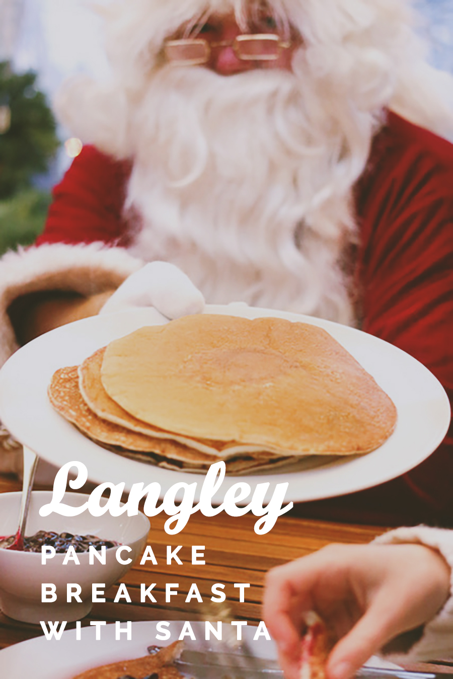 Pancake Breakfast with Santa - Krause Berry Farms is hosting its annual fundraising event for breast cancer research in memory of Liz Krause. Santa himself will be here to visit the kids, hear their wishes, and hand out candy canes. Come meet Santa and eat some warm and fluffy pancakes – all for a good cause! It is a first come first serve event; there are no tickets to purchase in advance.WHEN: December 10 •9:30am to 11:30amWHERE: Krause Berry Farms & Estate Winery, 6179 248 St, Langley (map)COST: FREE (all donations go to Breast Cancer Research Foundation)