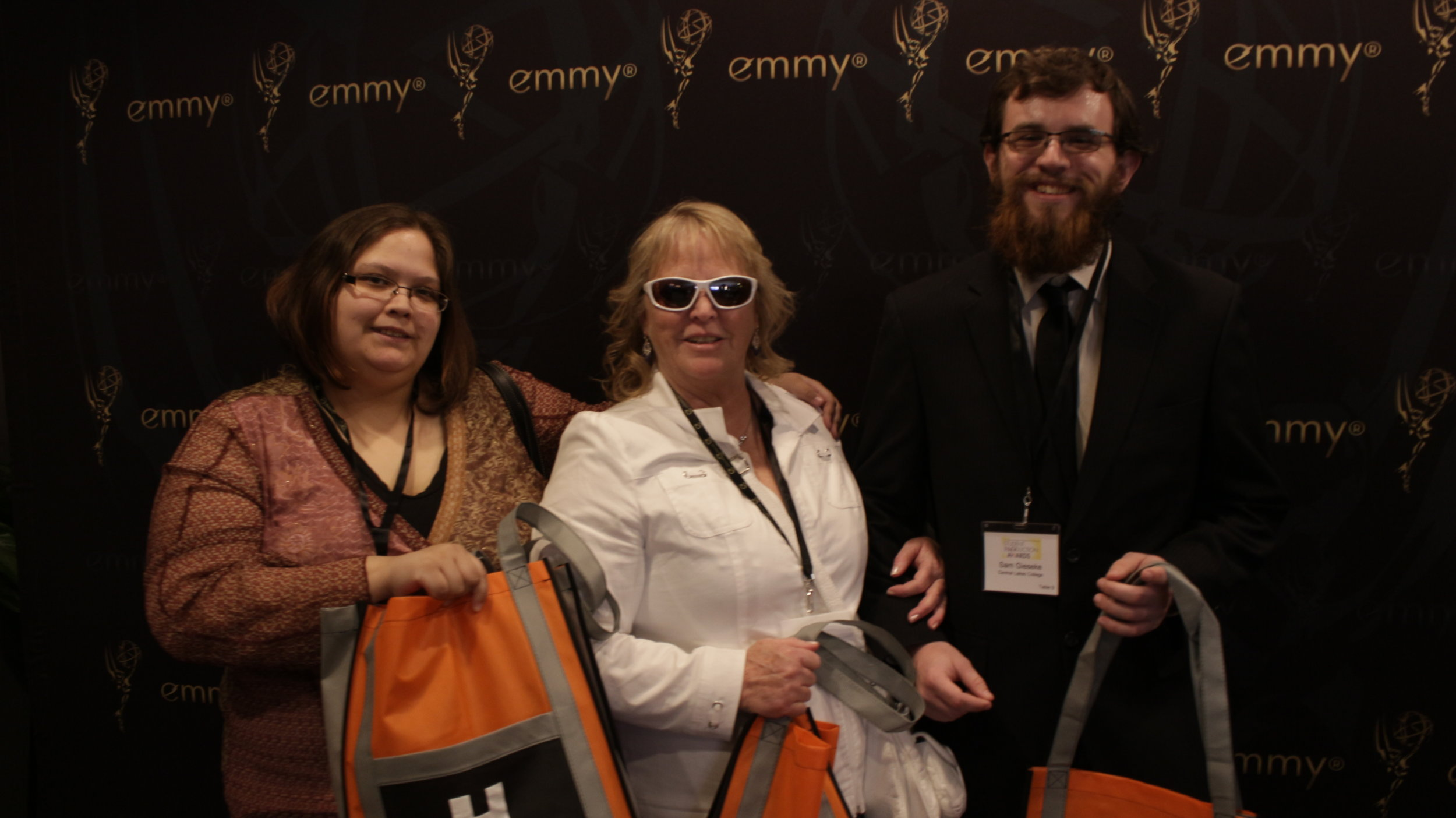 t The Emmys National Student Production Awards. we nominated for the Video Above this photo. It was a Blast.