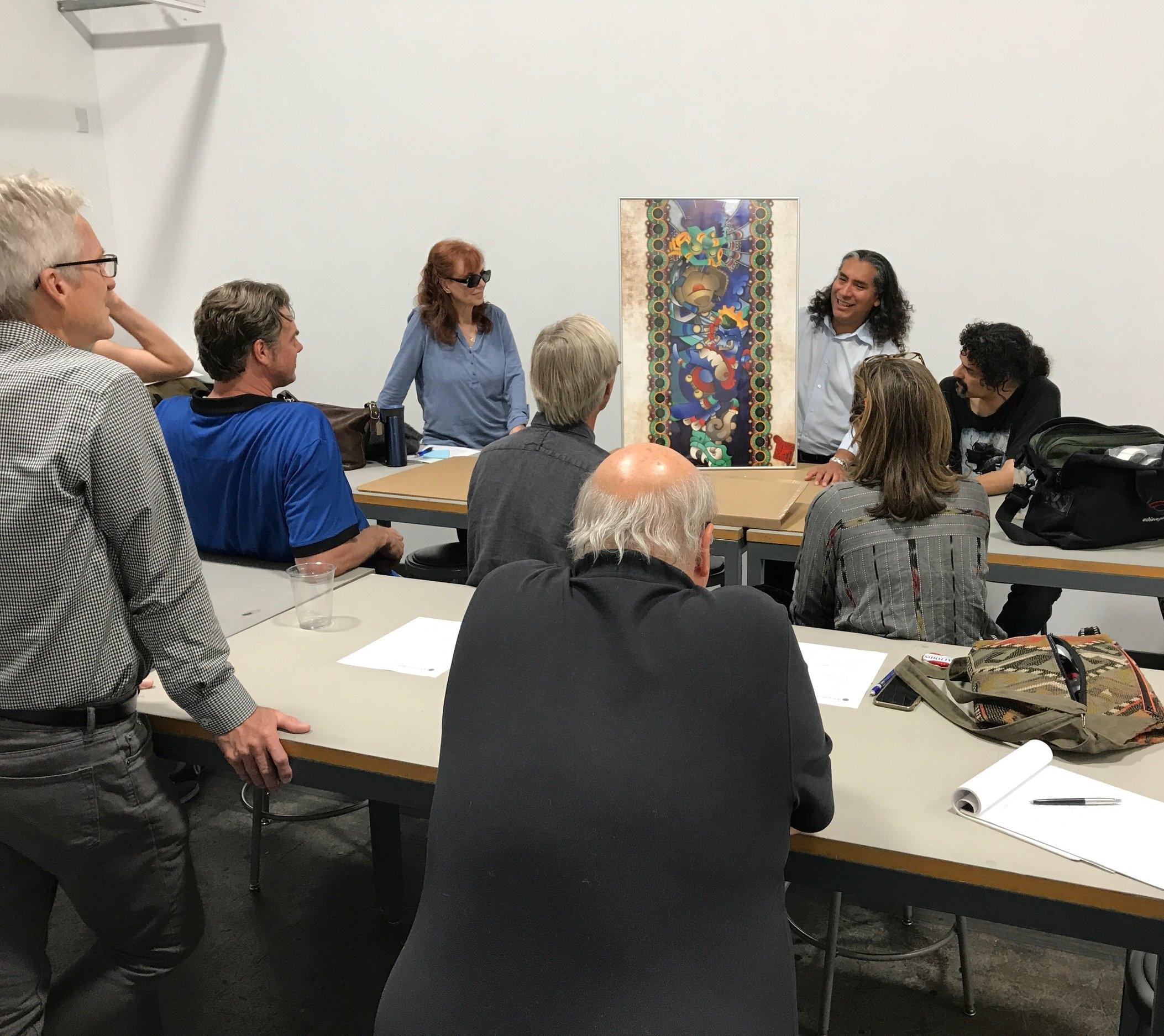 A schmoozeFest allows an artist to showcase his amazing work.