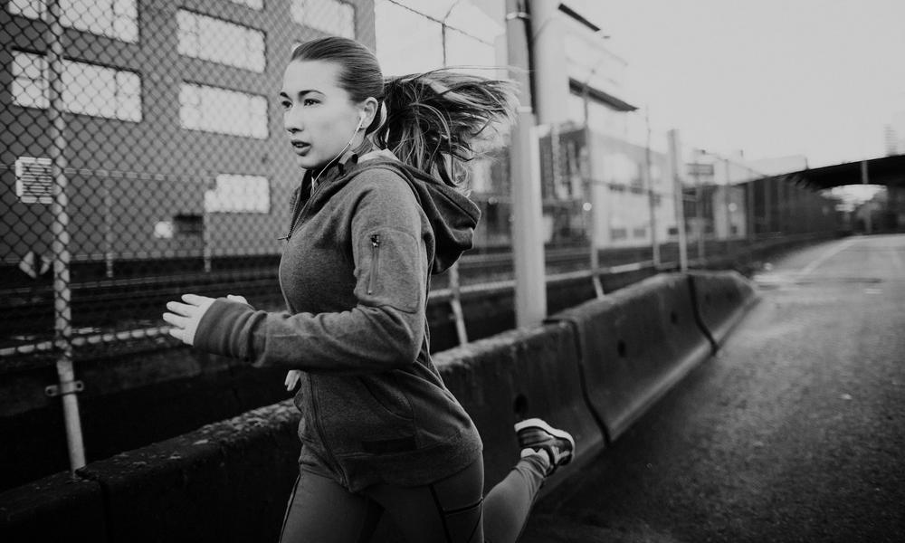Woman out on a jog
