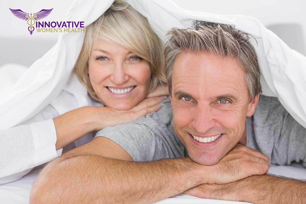 Middle age couple in bed