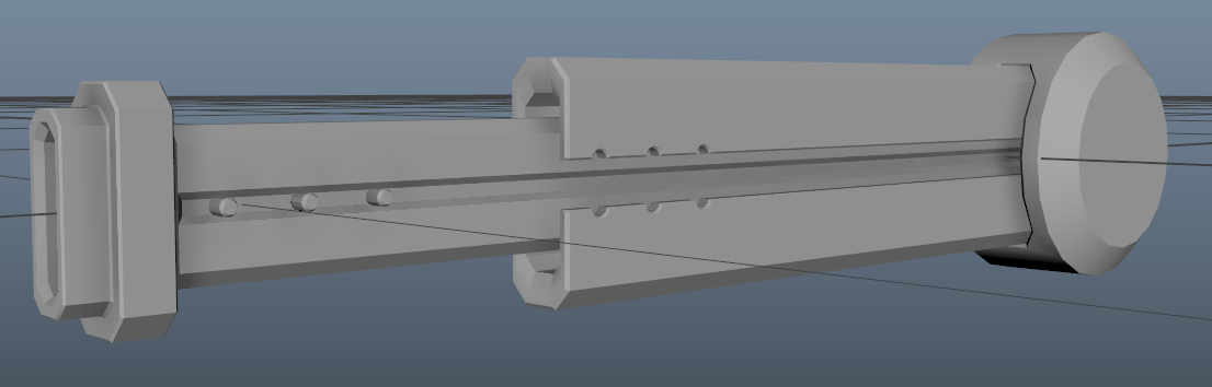 Also might add a few more details to the barrel to make it feel a bit more like a classic rail-gun.