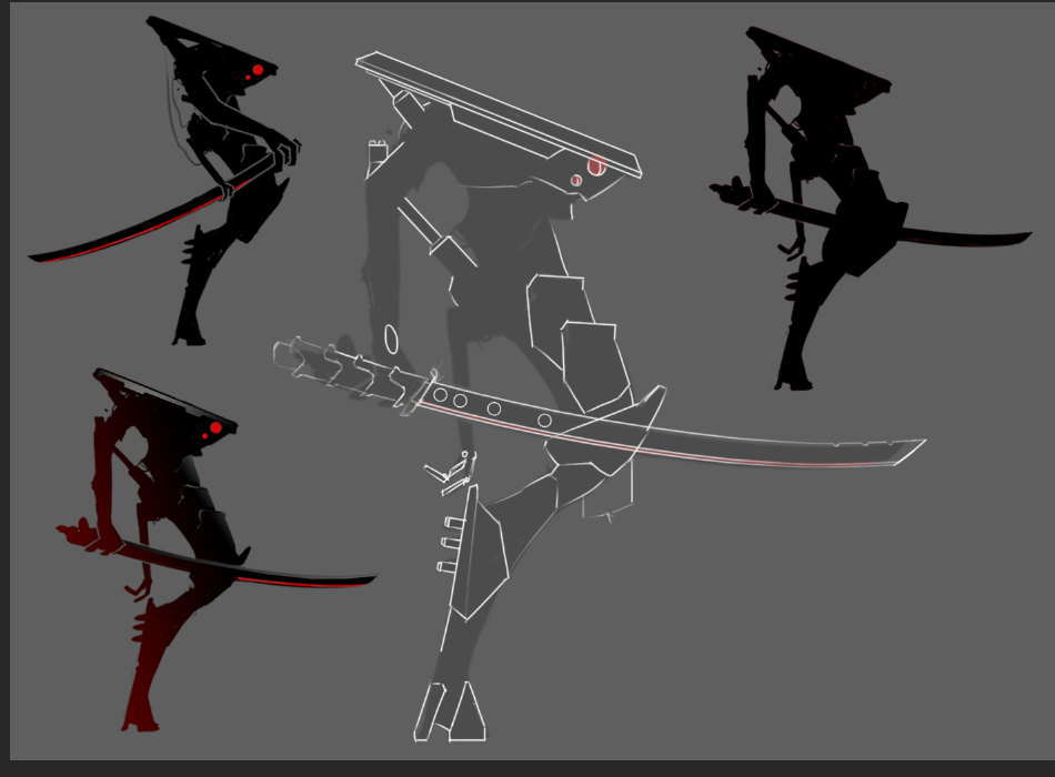 After deciding on the silhouette I tried to figure out how any of it would look.