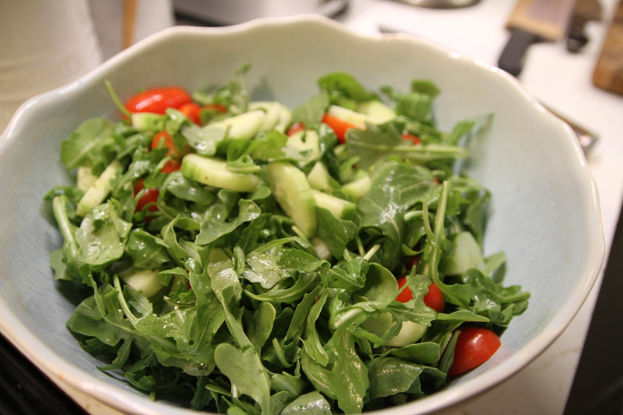 The salad was awesome, too. Yay arugula!