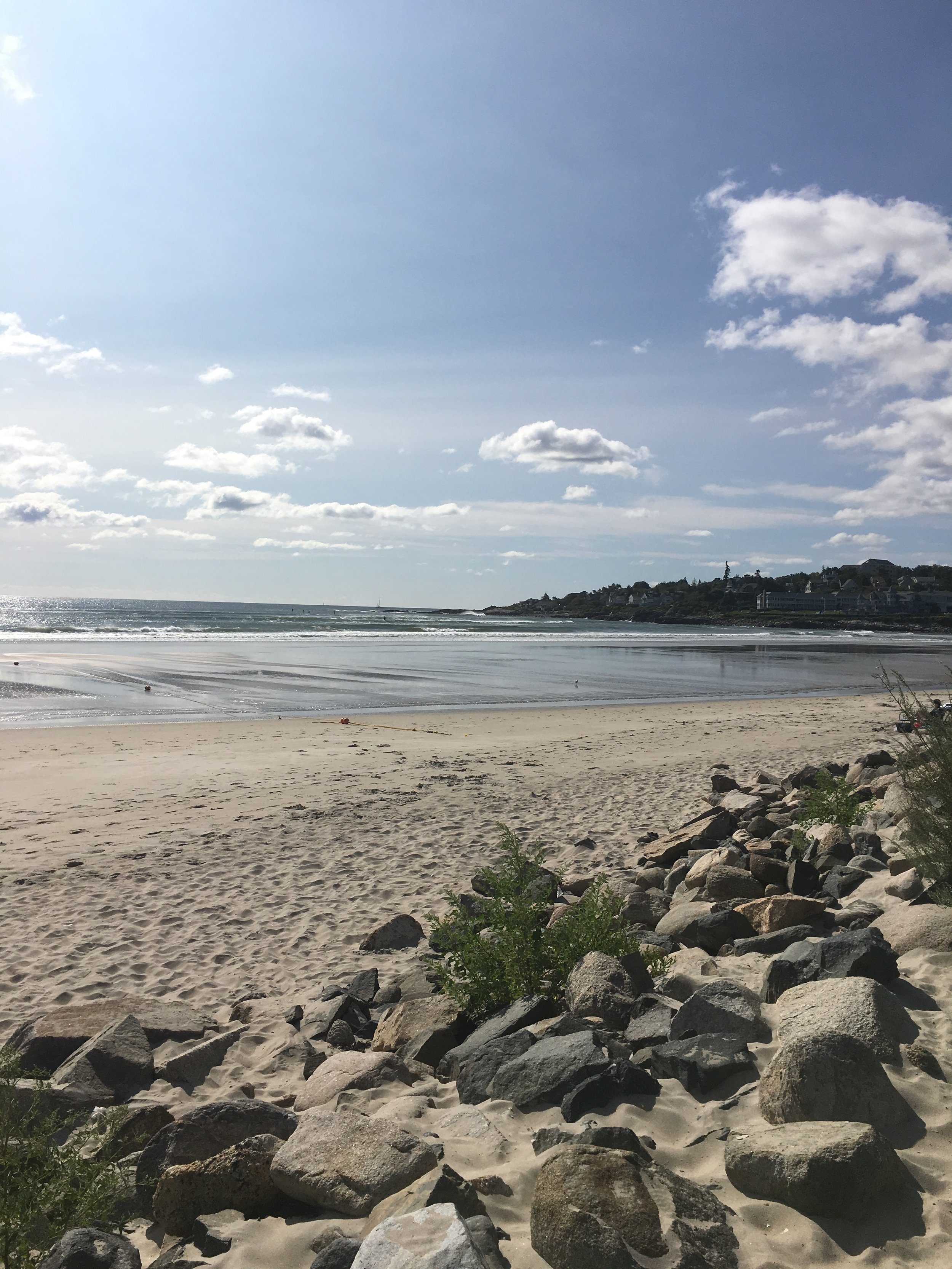 Main Beach in Ogunquit, Maine. Lovely, but very chilly time spent ocean-gazing, while wearing jeans and (!) and a jacket. Much lobster consumed.