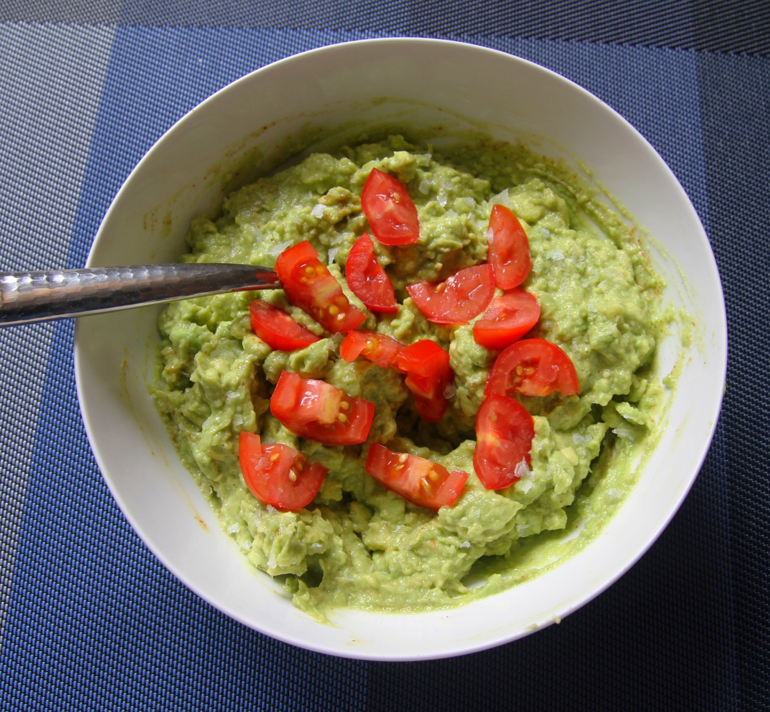 Unrelated, but I just love making homemade guacamole and this photo reminds me that I have 3 ripe avocados ready for me in the fridge. Snack time!