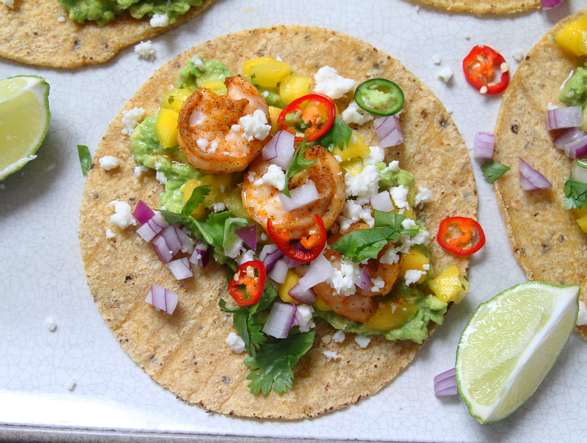 Shrimp tacos are always a win.