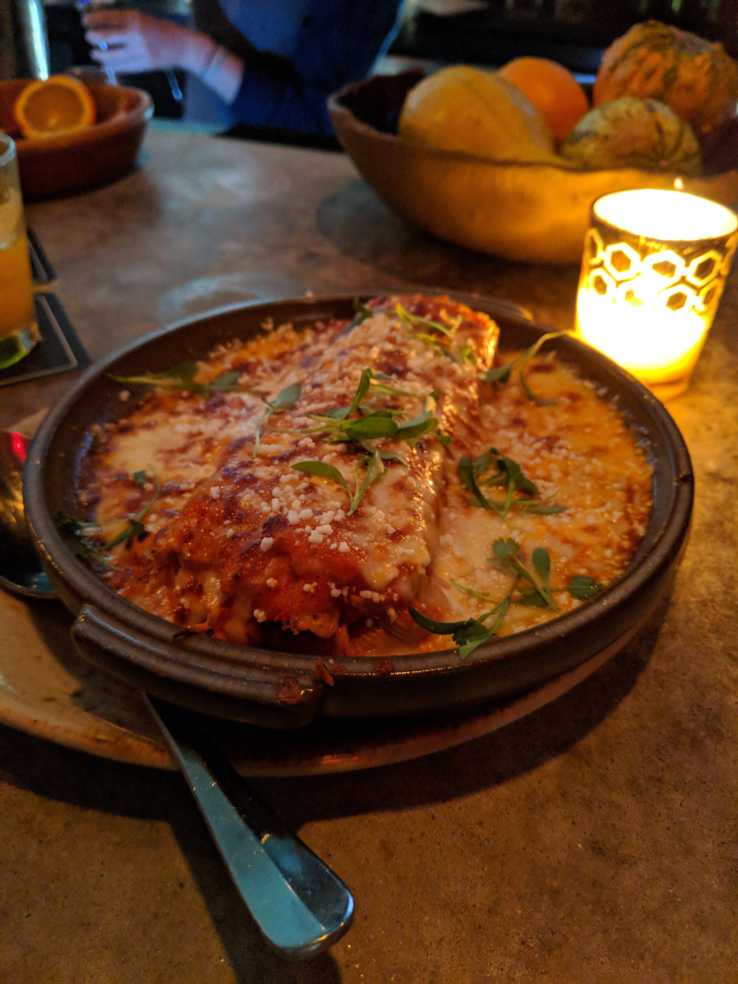 Always awesome chicken tamale at Burro Bar. Yum!