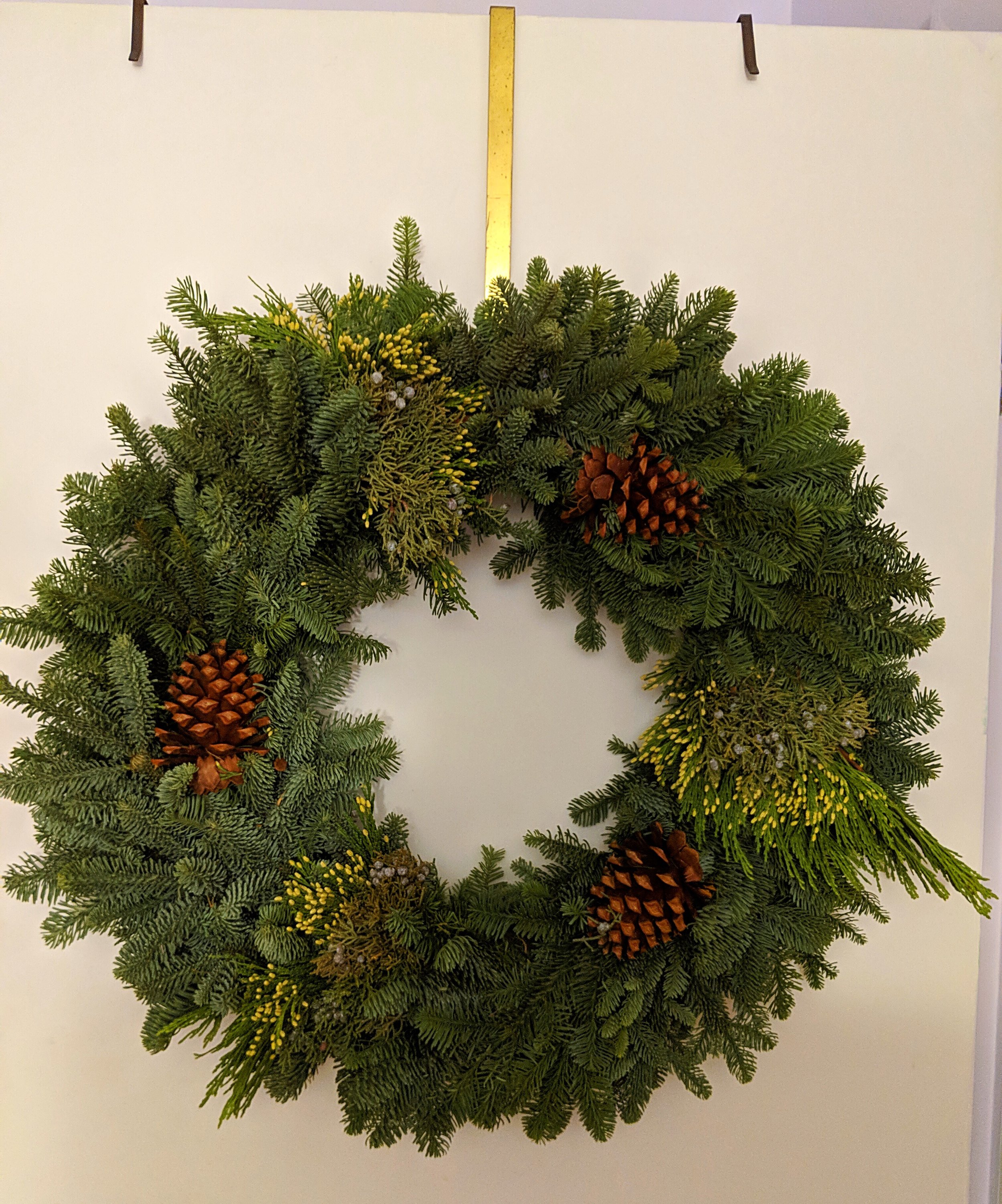Wreath in our apartment. Hooray for bringing the holiday cheer inside!