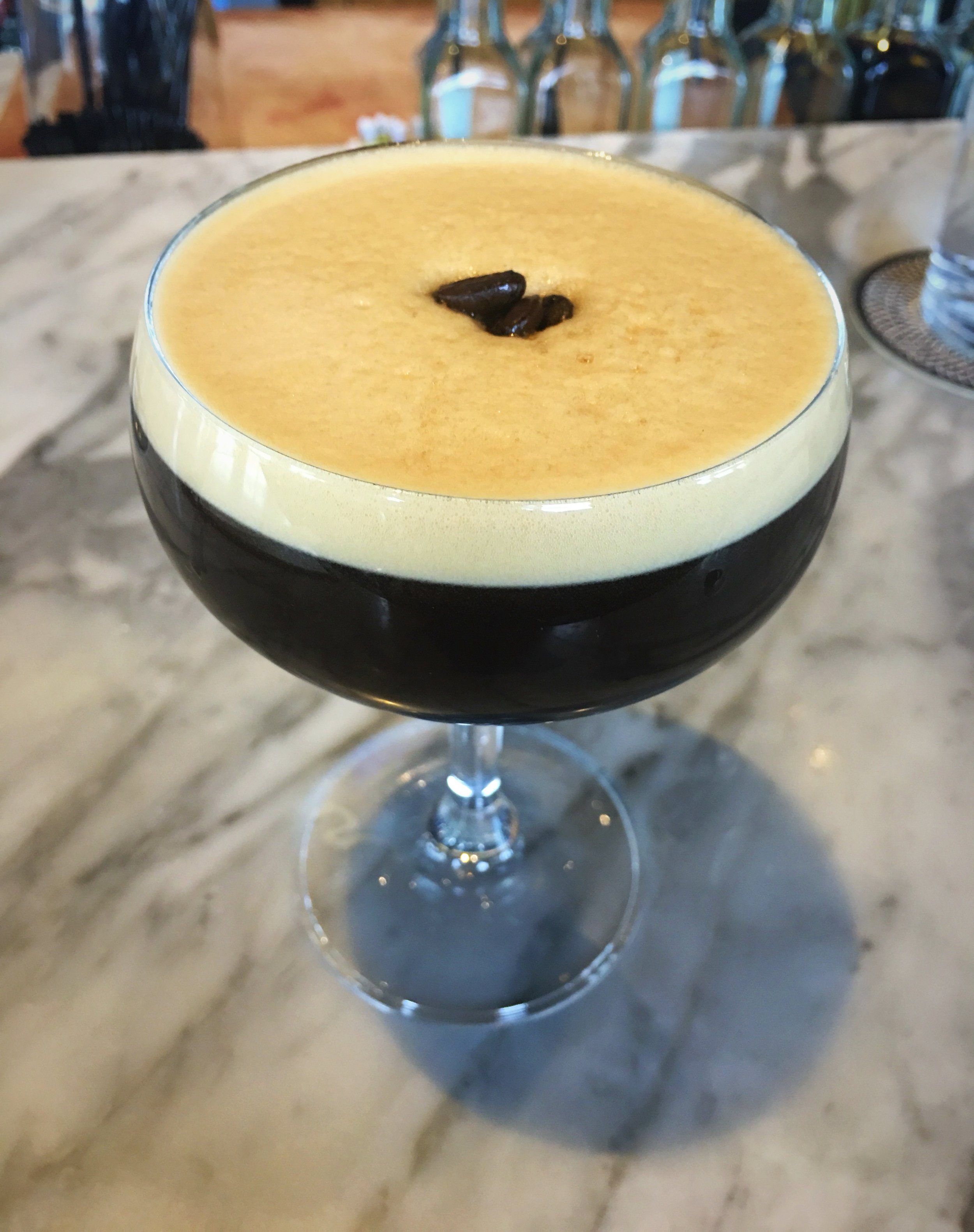 Another great holiday cocktail: the espresso martini! Head to the bar at The Bancroft for a great one.