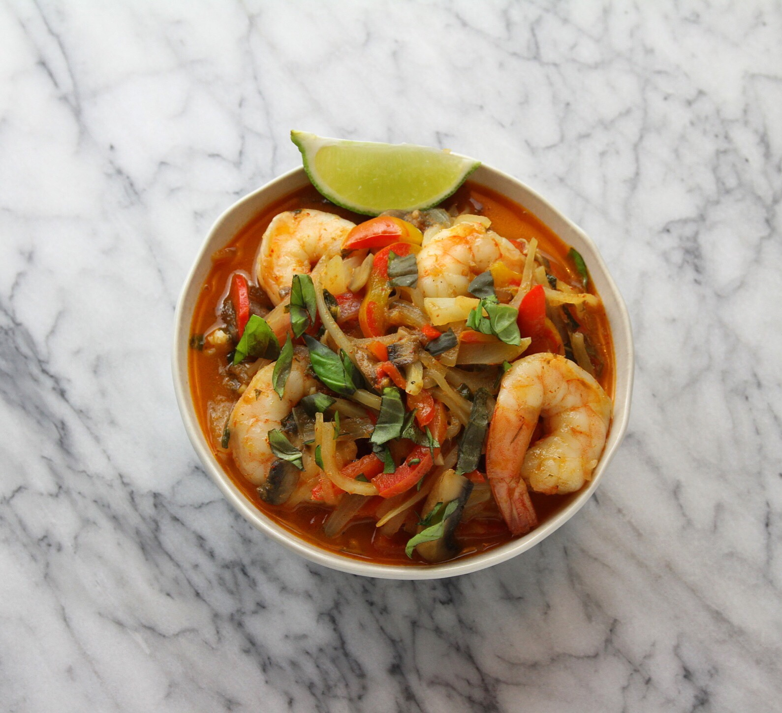 We made the favorites when we felt like cooking and that included red coconut curry shrimp. So scrumptious and perfect for this absurdly cold week.
