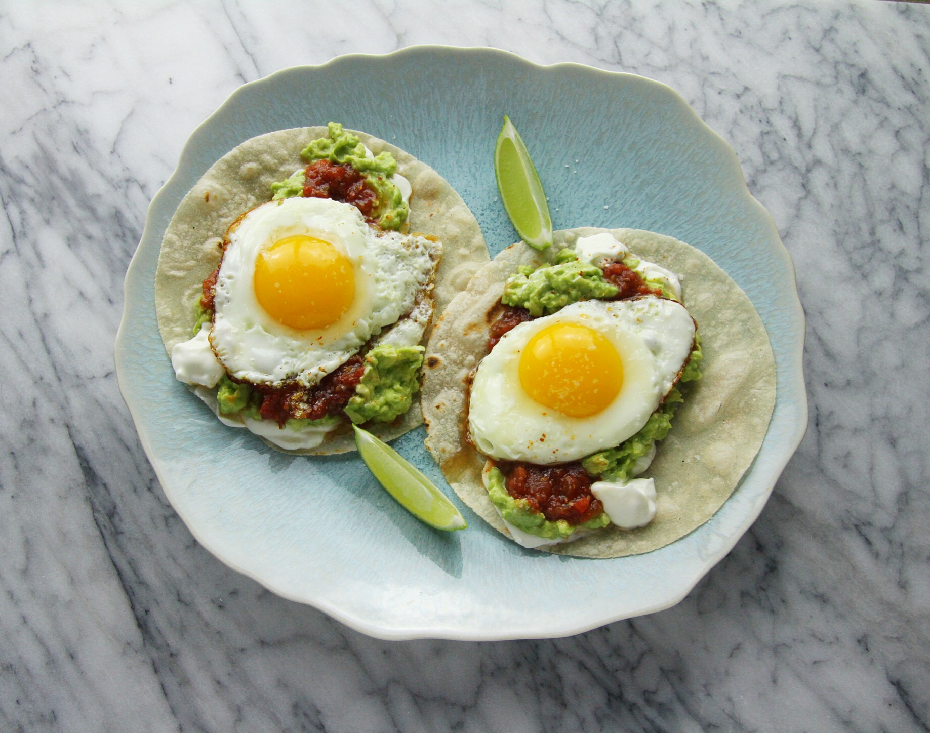 OH! I had time to make an awesome lunch during the snow day so I made these fabulous breakfast tacos. Filled with salsa, sour cream, and homemade guacamole, I topped each one with a pretty-perfect sunny-side-up egg. So delicious and messy, but so worth it. Tip: I made my tacos on Siete Foods gluten free cassava flour tortillas. My new favorite!