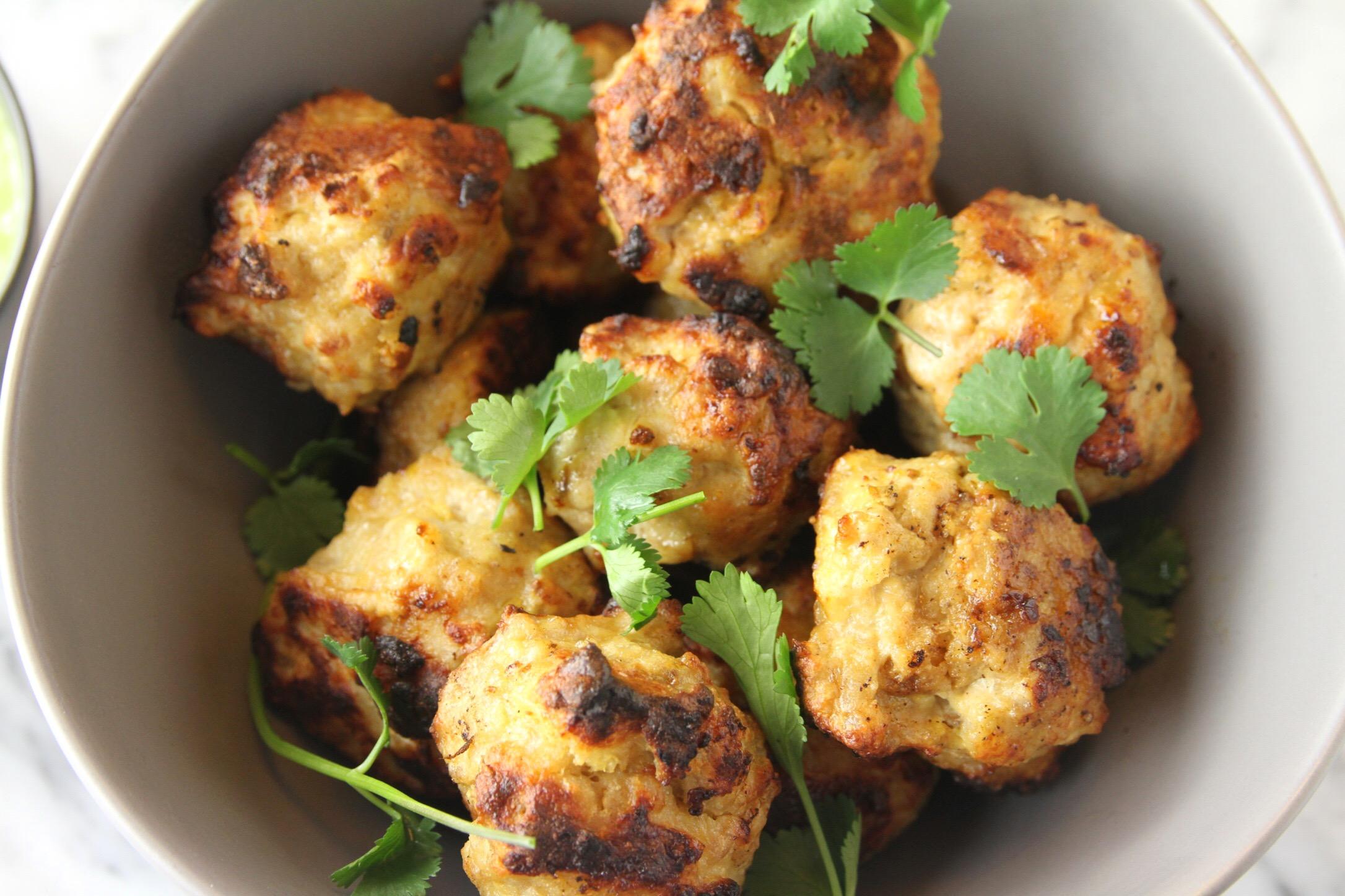 Cumin chicken meatballs. Make a double batch. Or triple. ;)
