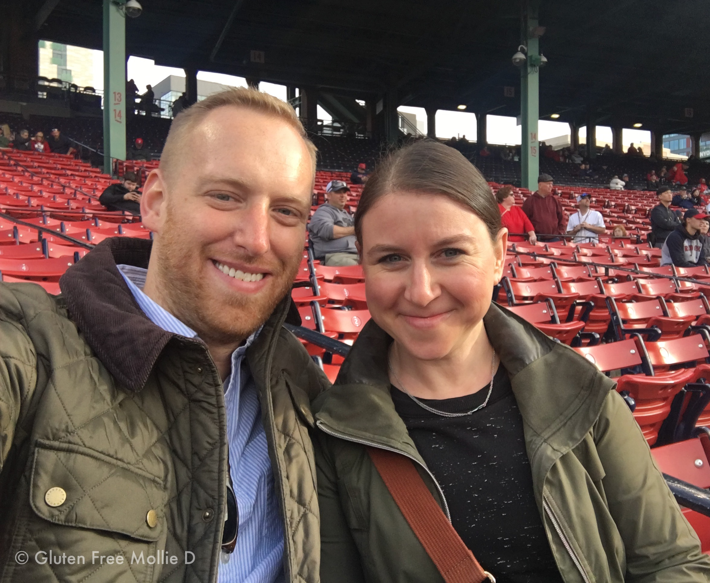 At Fenway, before we were cold and they were losing.