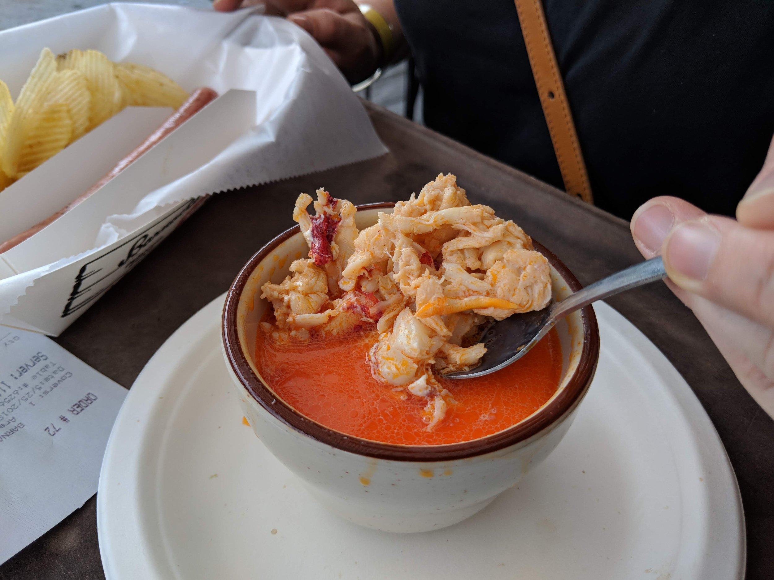 Lobster bisque.