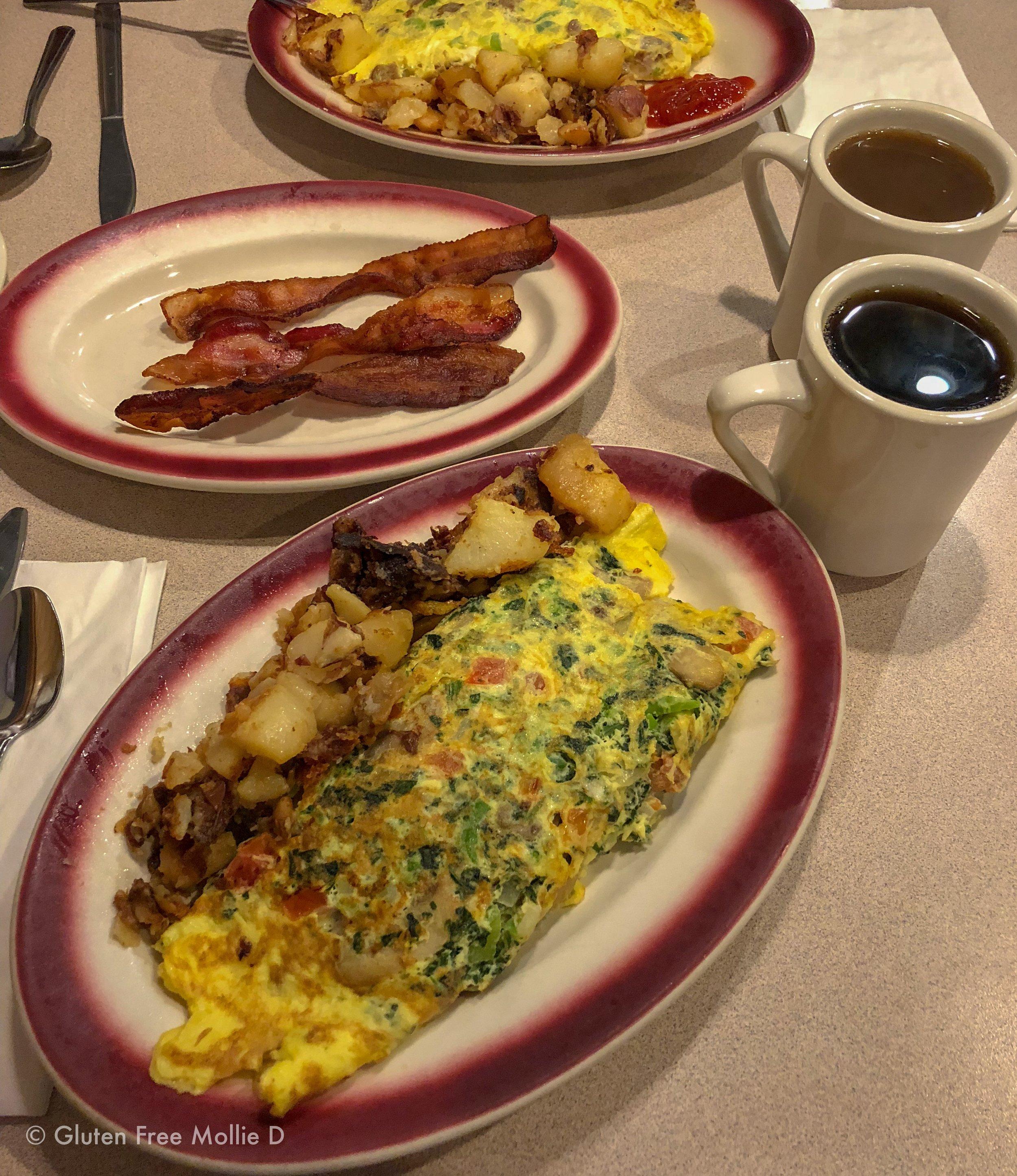 Sunday breakfast, diner-style.