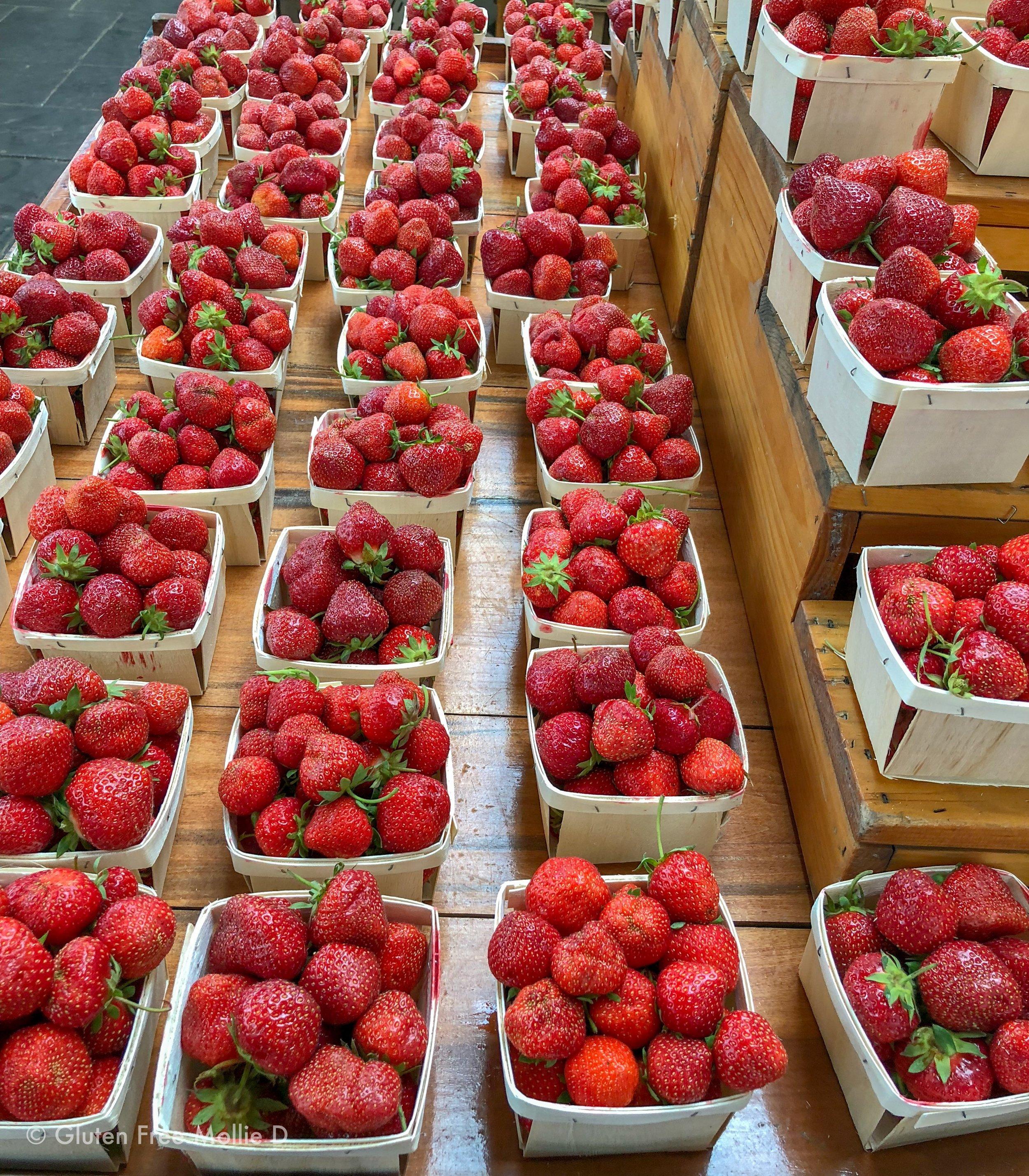 Farm-fresh strawberries picked right at Wilson Farm!