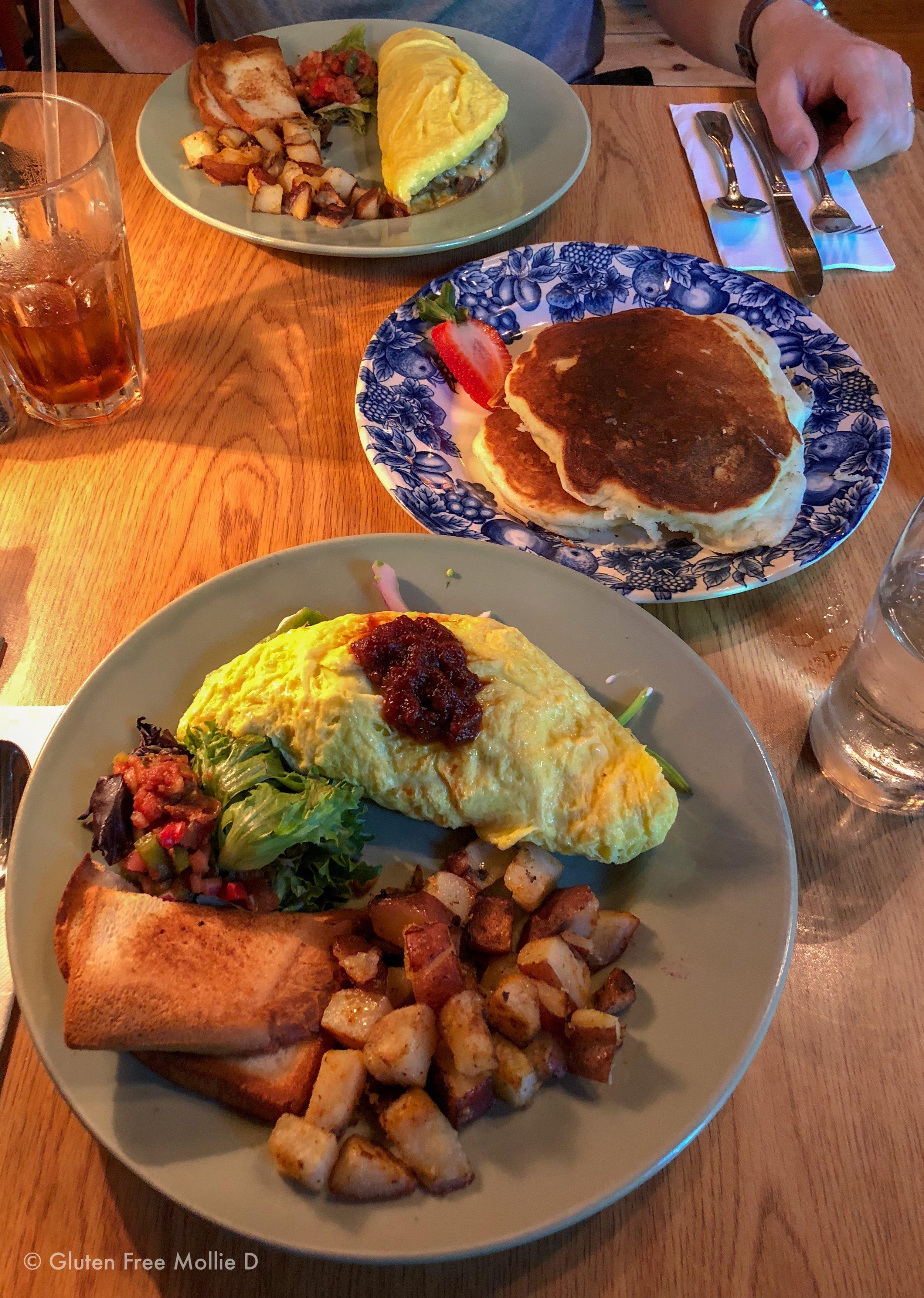 Breakfast at Roost - GF pancakes!!